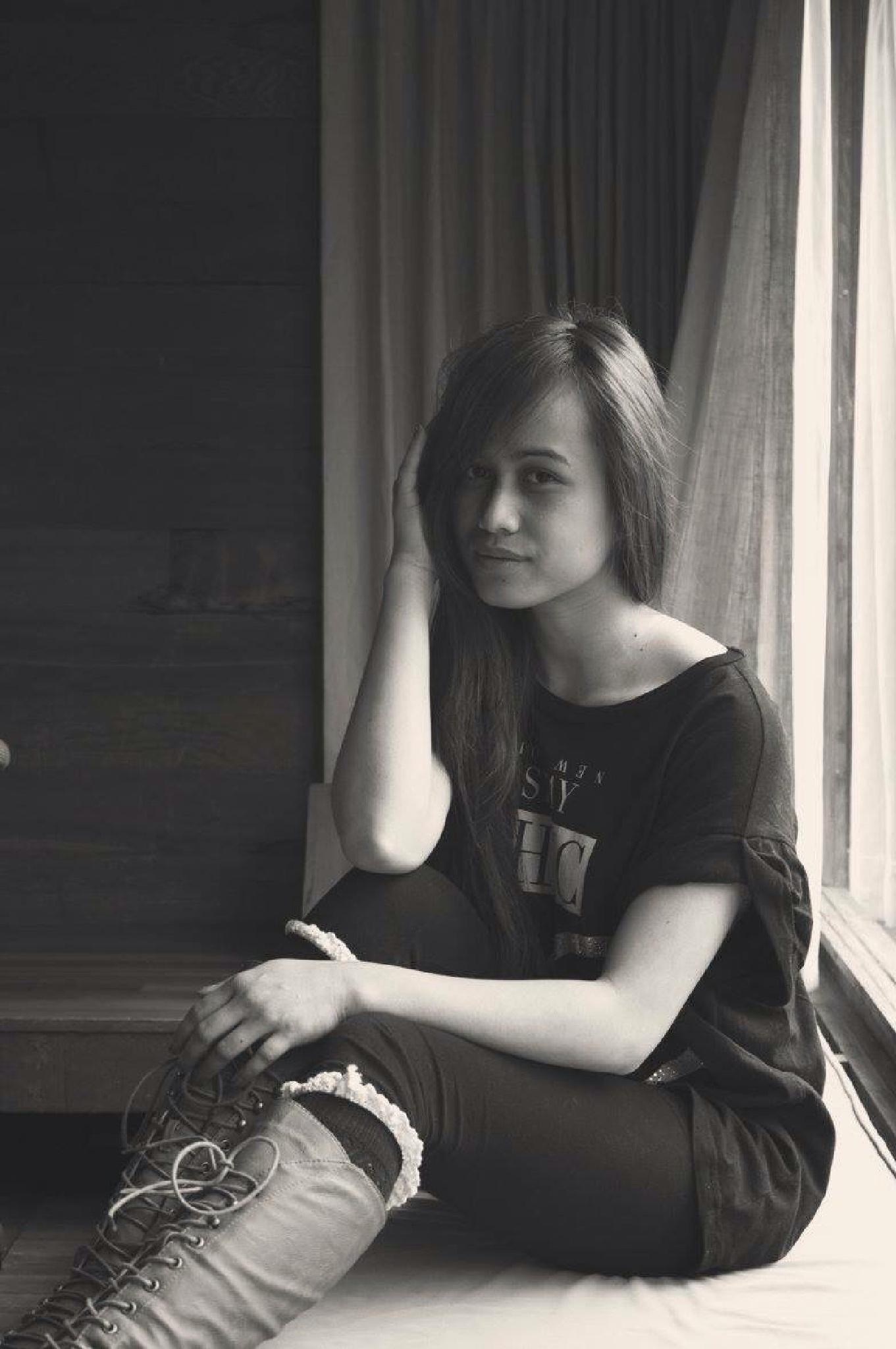 Black and white olivia by Angelina Desiree