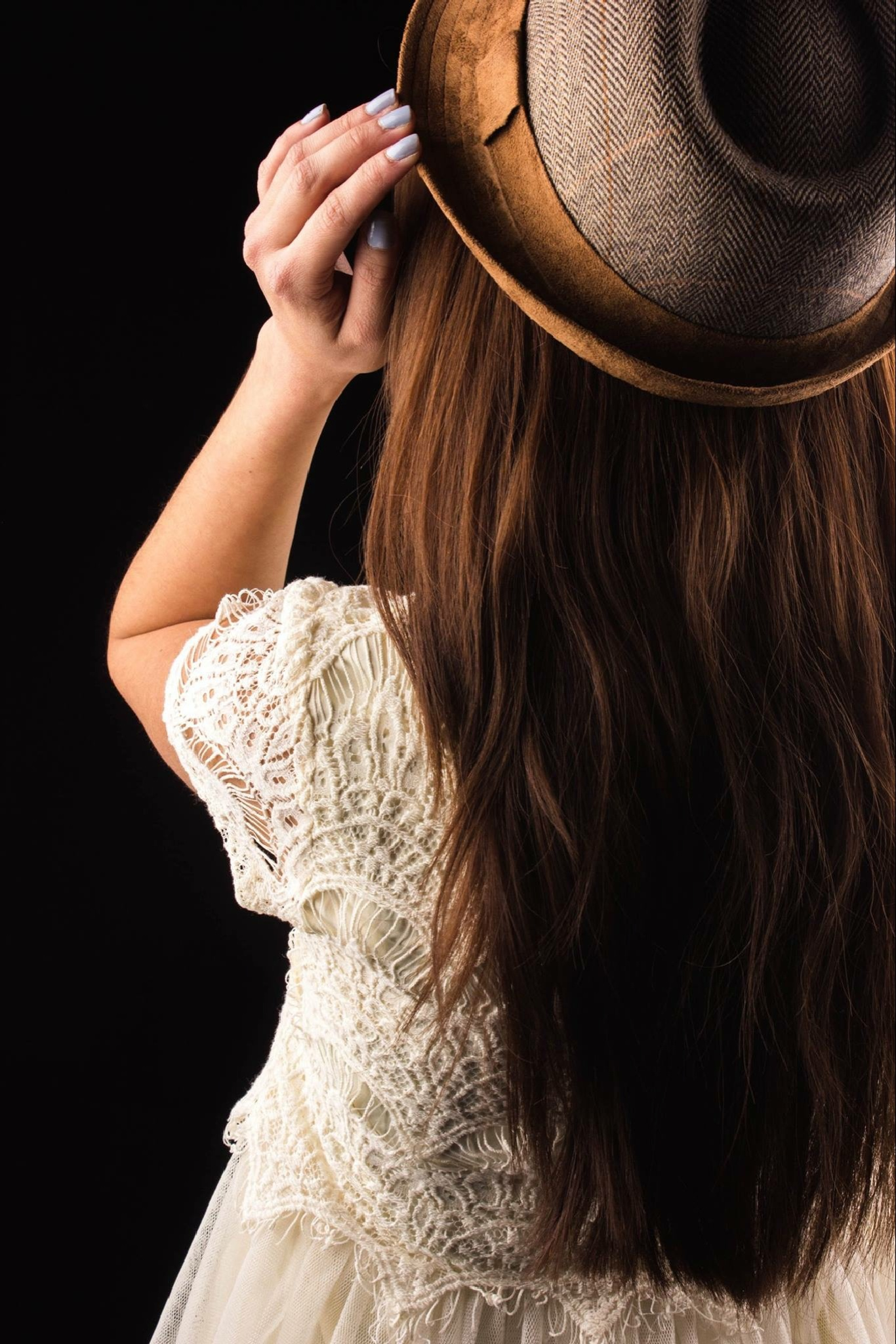 Girl with hat by Angelina Desiree