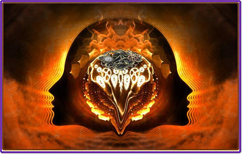 """Steampunk Brain Merge"" (c) Richard Cooke by Richard Cooke"