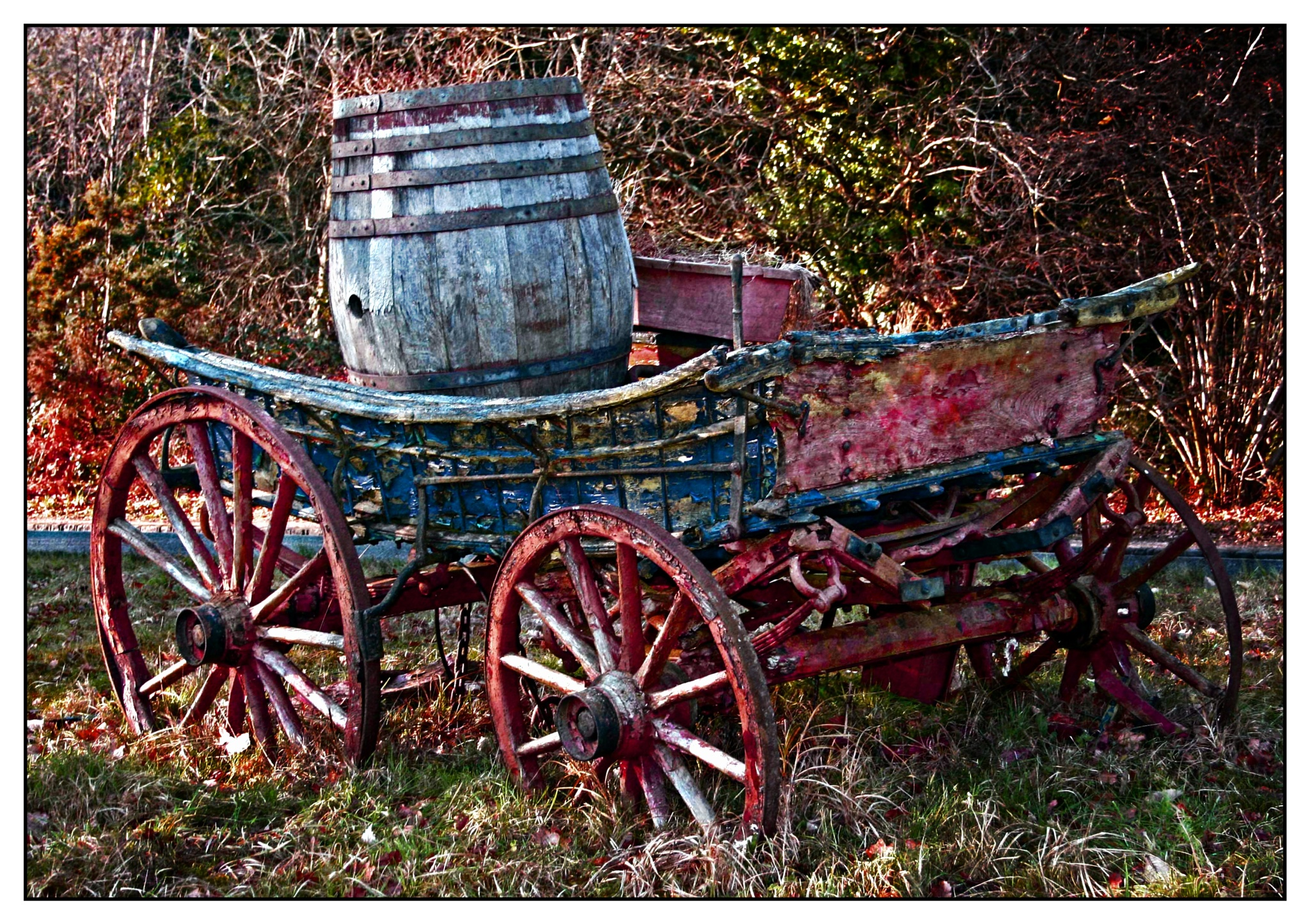 Old Sussex Farm Cart (c) Richard Cooke by Richard Cooke