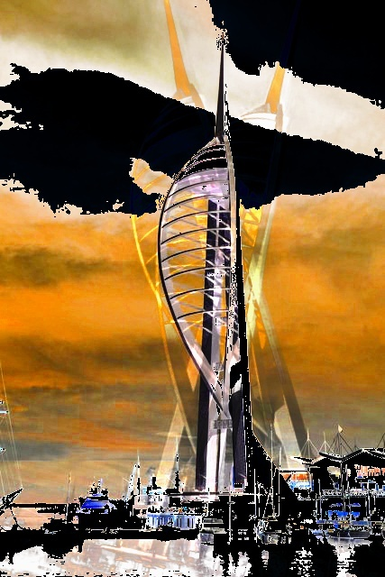 Spinniker Tower (c) Richard Cooke by Richard Cooke