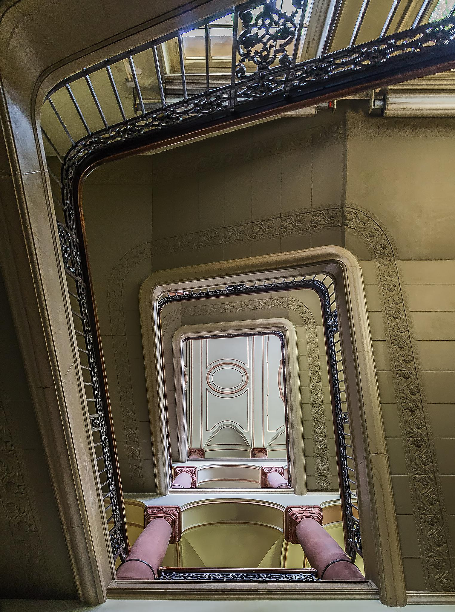 Spiral stairs II by Frank Haase