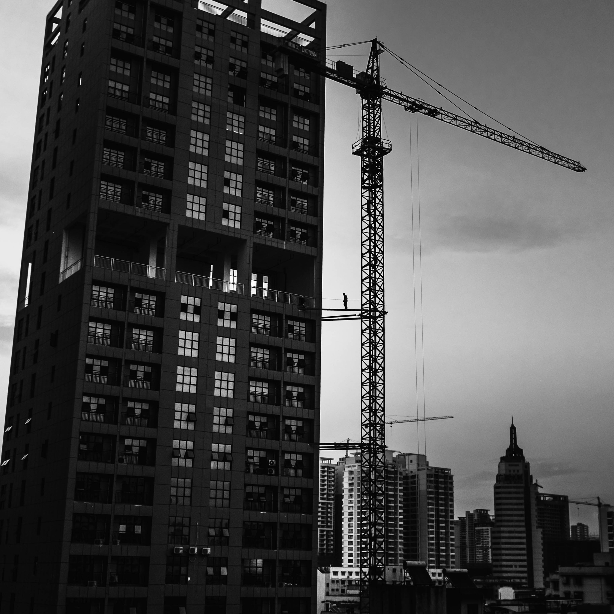 The Crane Worker. by selftravelvehicle