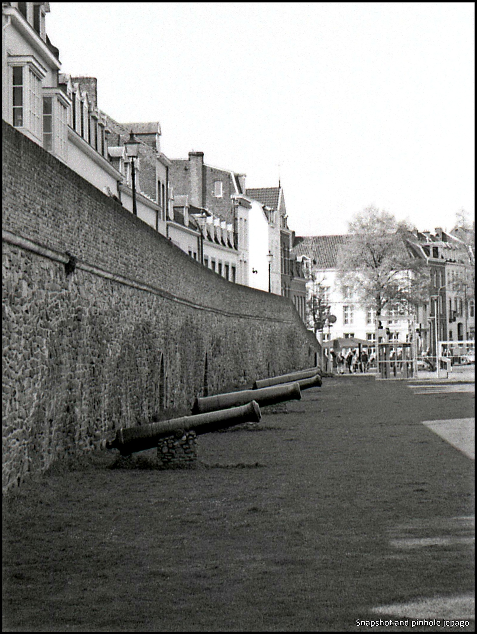 City walls of Maastricht in the Netherlands by Jepago analogue photography