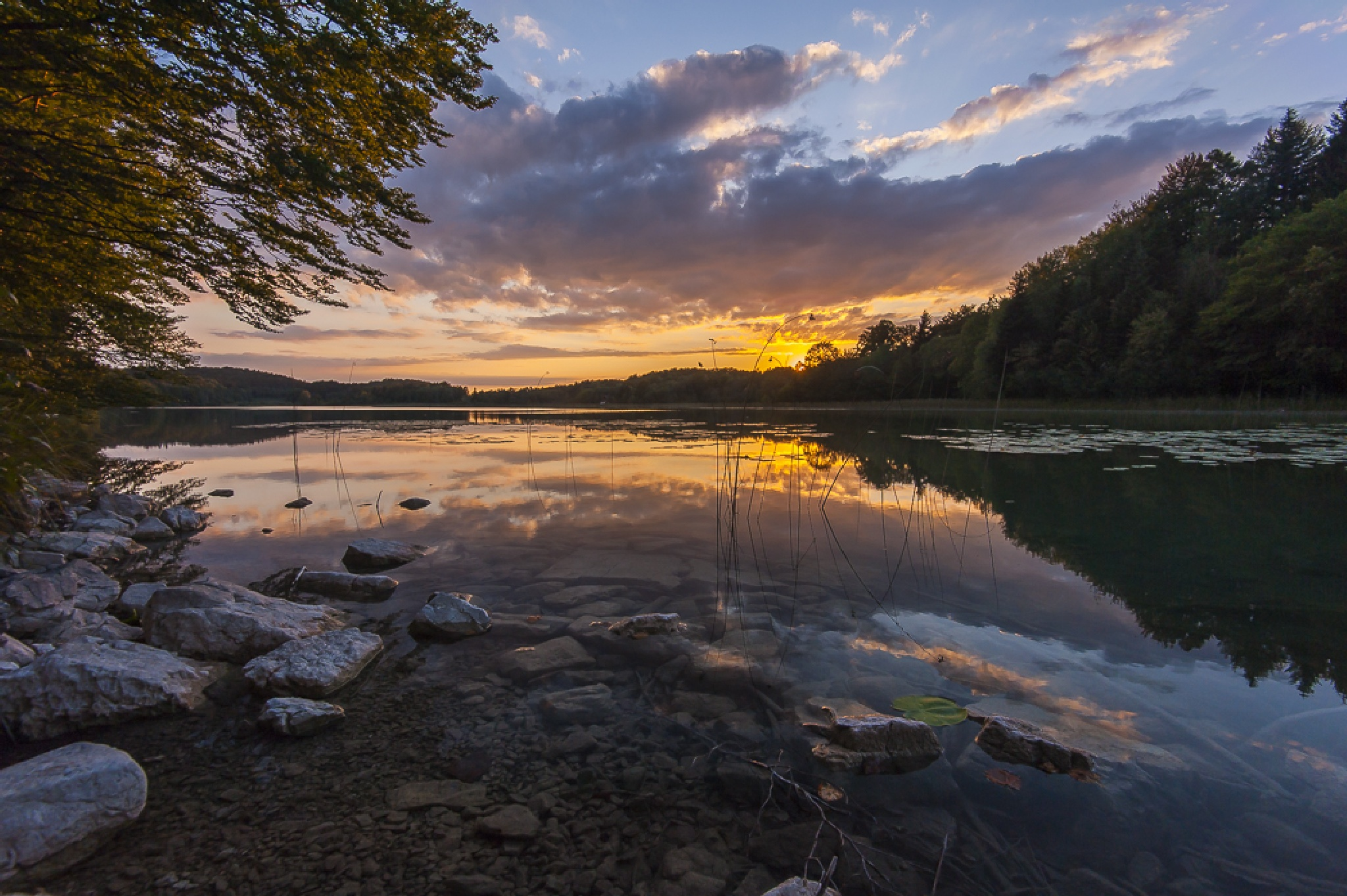Lac du grand Maclu Jura France by Mayfly74