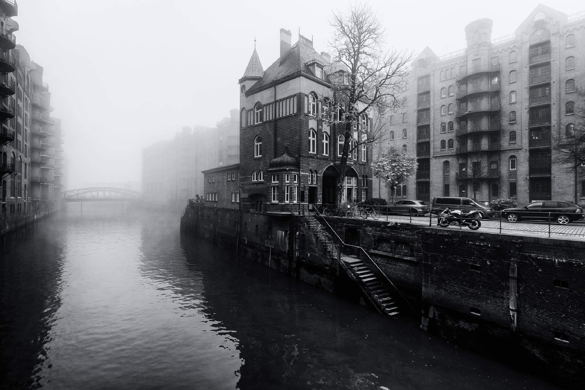 Fog over Hamburg by Joerg Piechotka
