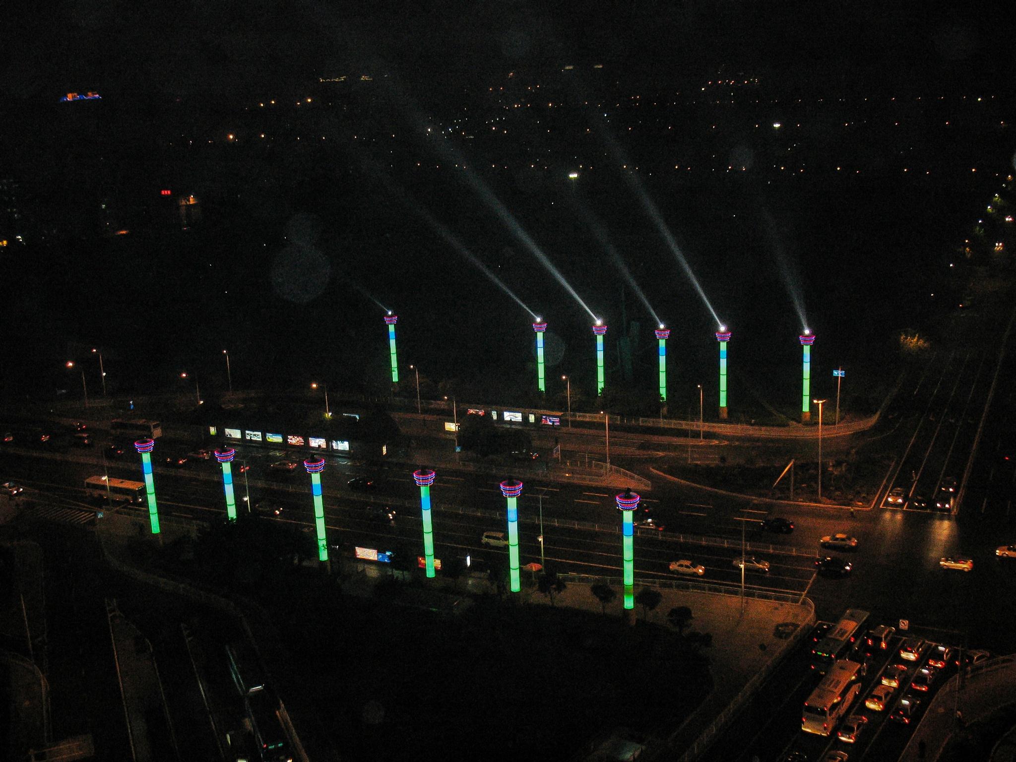 Shenzhen street lights by Mohamed SalahEldin