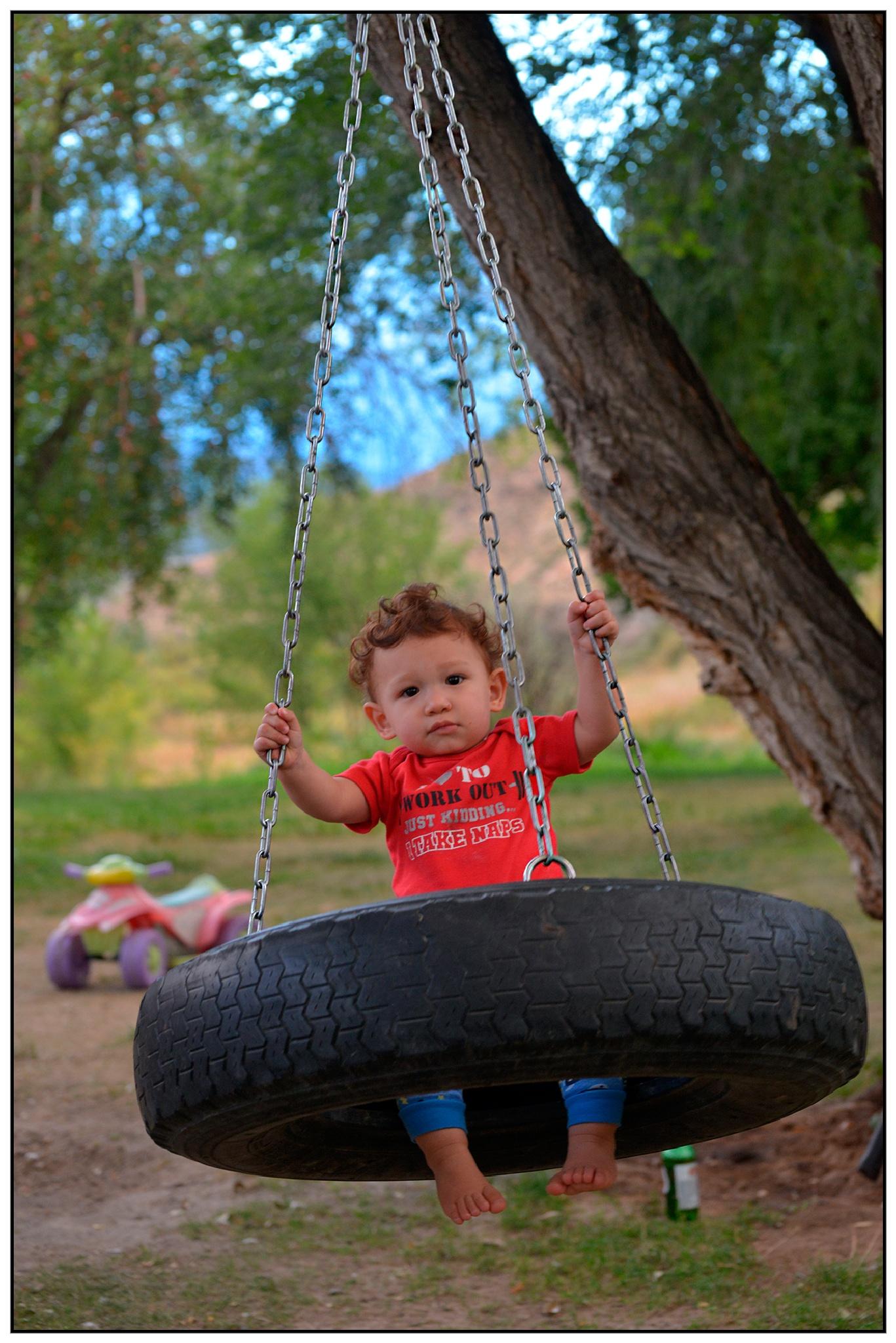 Enjoying the Swing  by Hugo