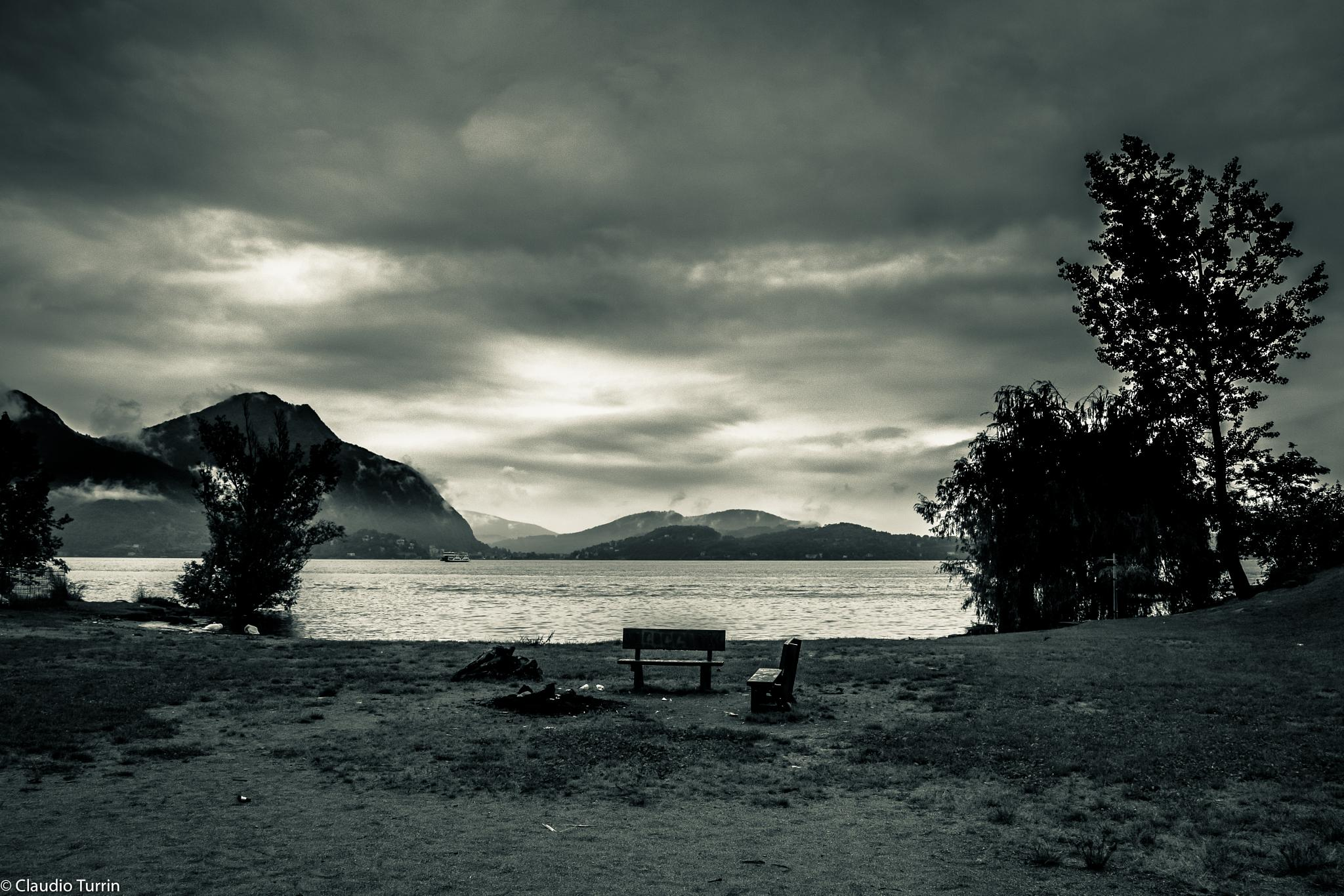 The Lake in black and white by claudioturrin77