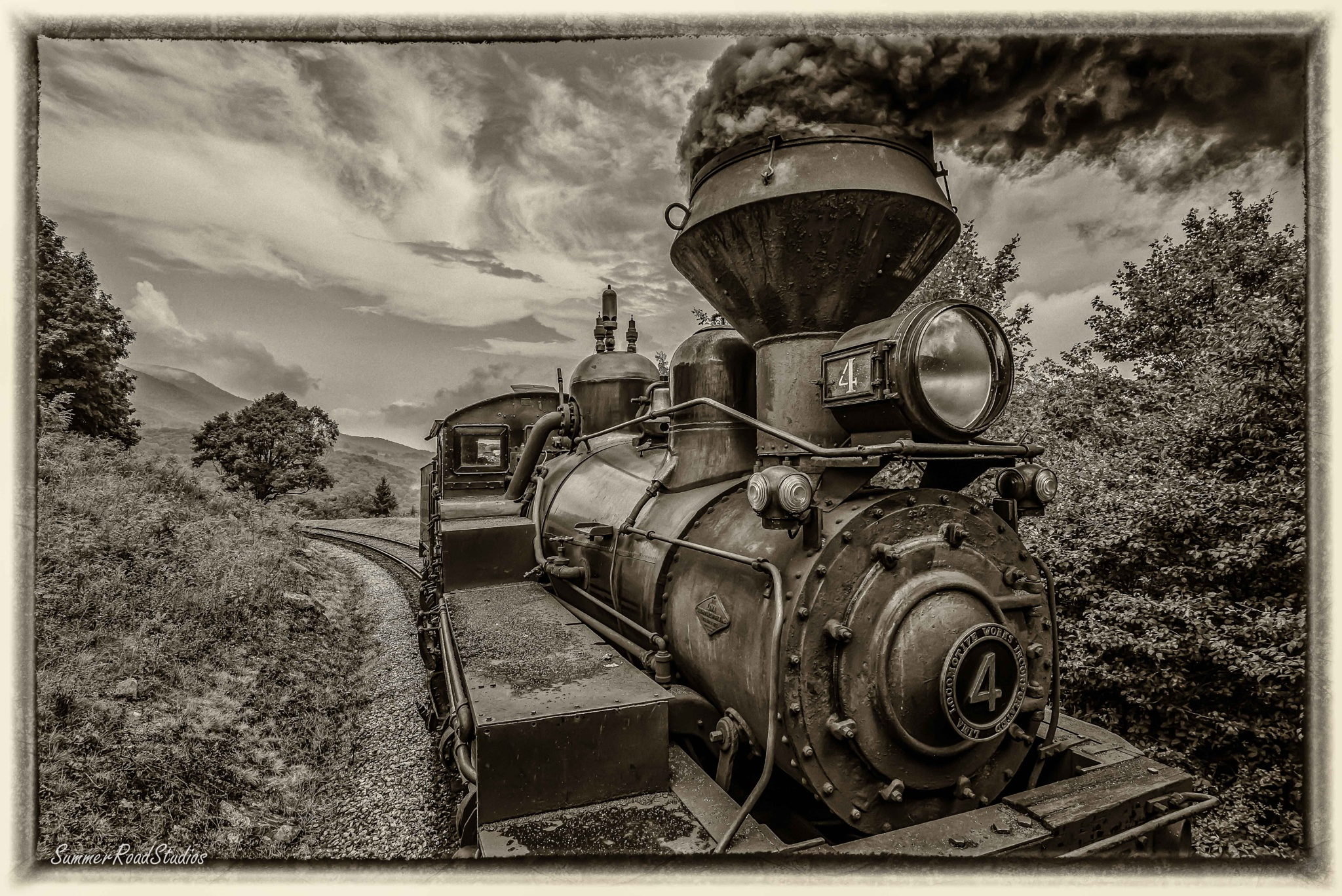 Logging locomotive. by wexfenne24
