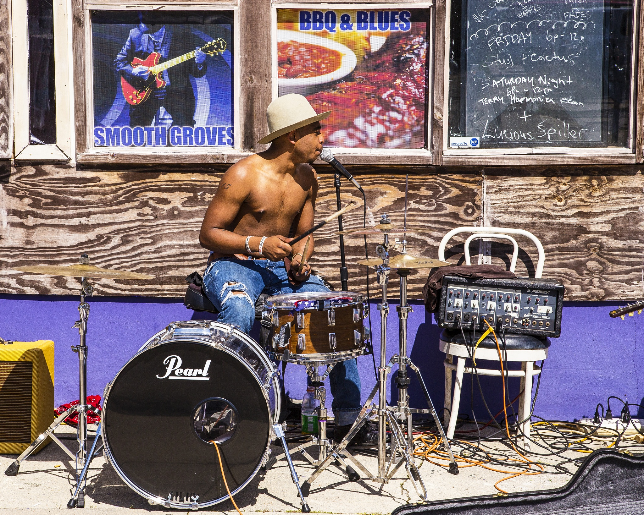 Blues Drummer by Leroy