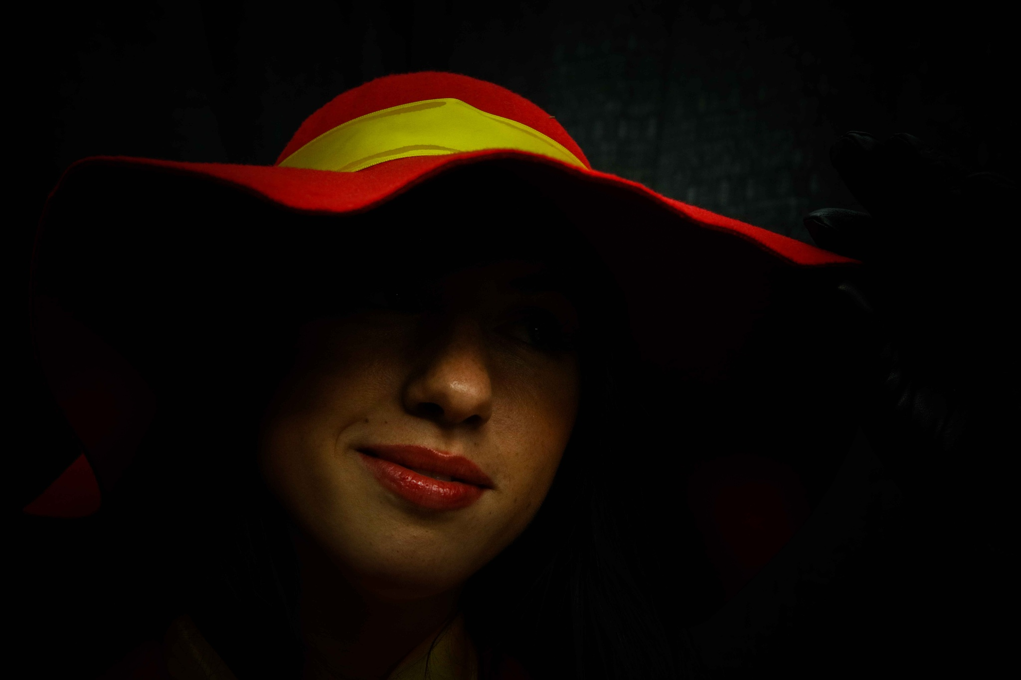 Woman In The Red Hat by VAMPhotography