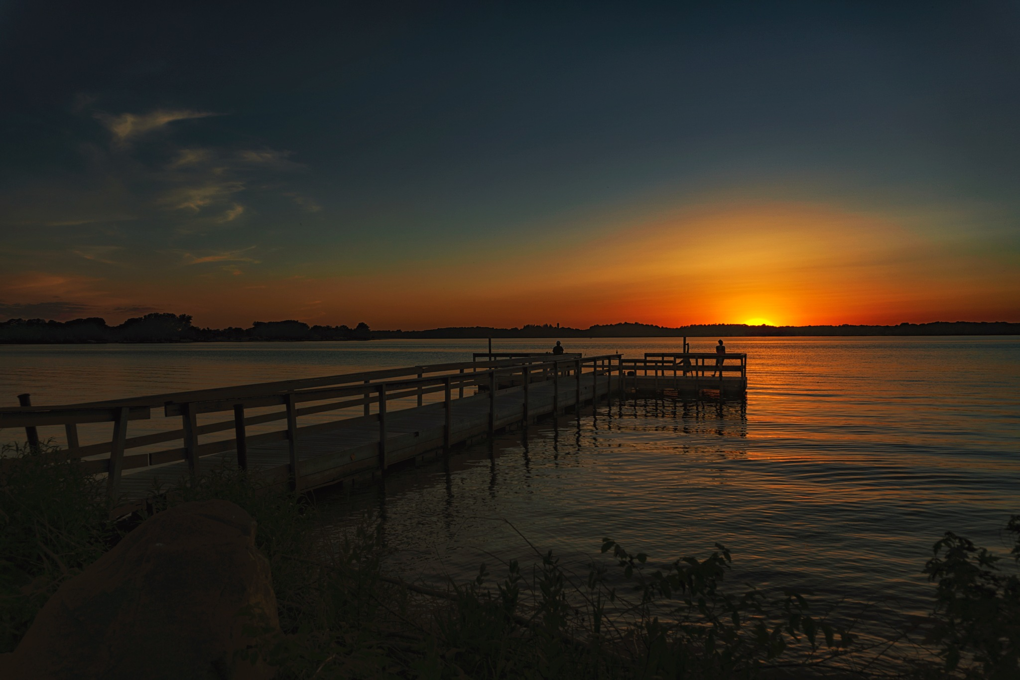 Cartwheels on the dock by Tom Davison