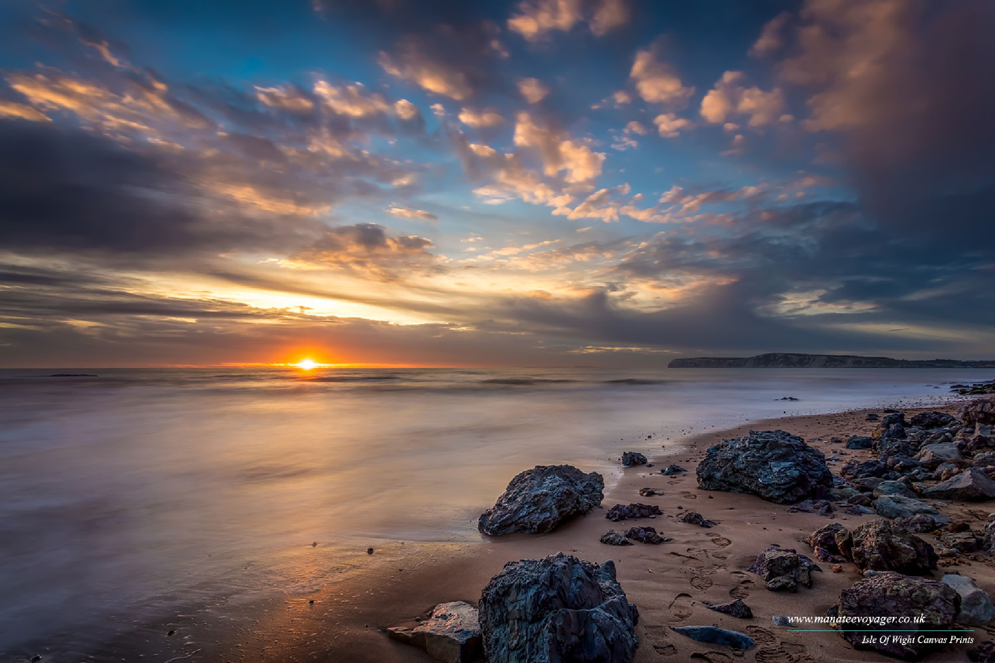Brook Bay Sunset by English Landscapes