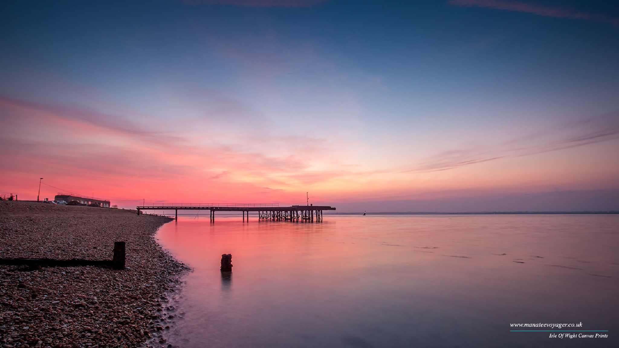 Fort Victoria Pier Sunset by English Landscapes