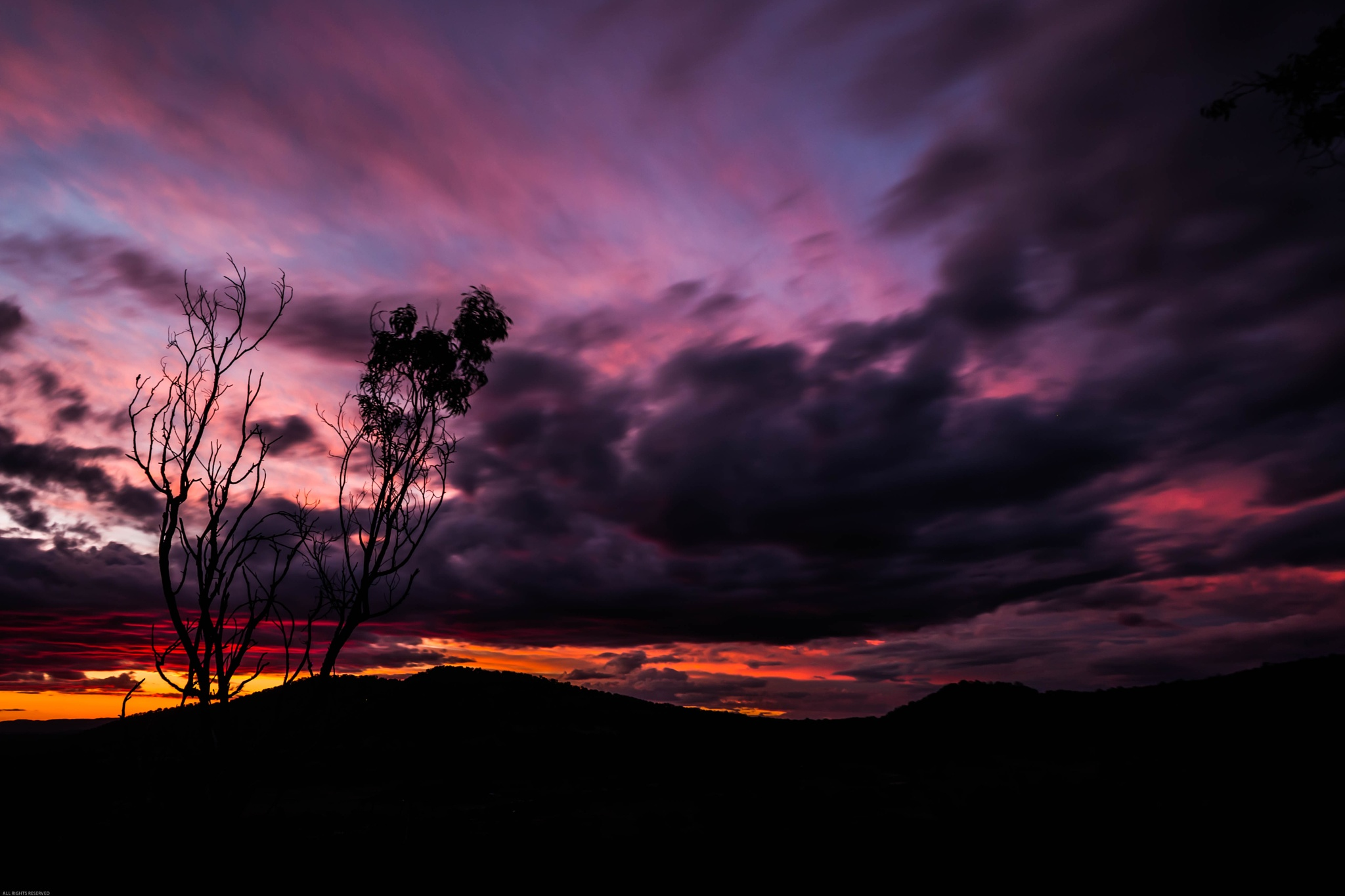Mount Yarrowyck Sunset by RobertStanley