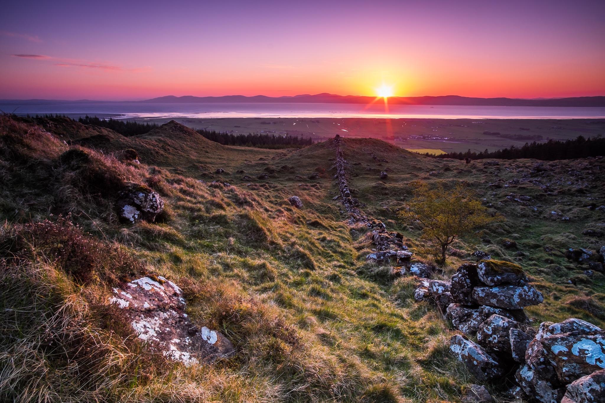 Binevenagh sunset by Lee Morrow