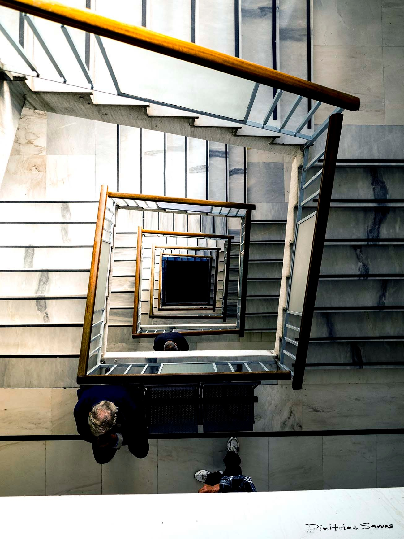 The Ippocrateon Hospital Stairwell by dimitrissavvas