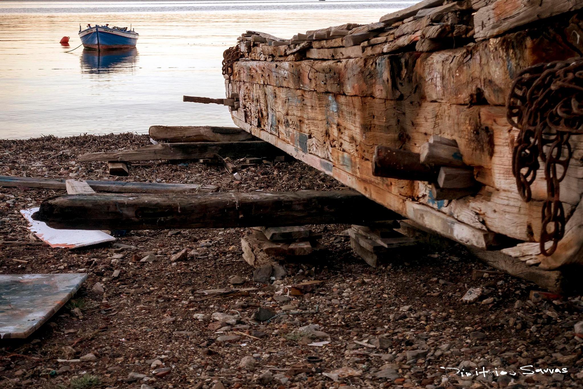 wooden boat shipyard by dimitrissavvas
