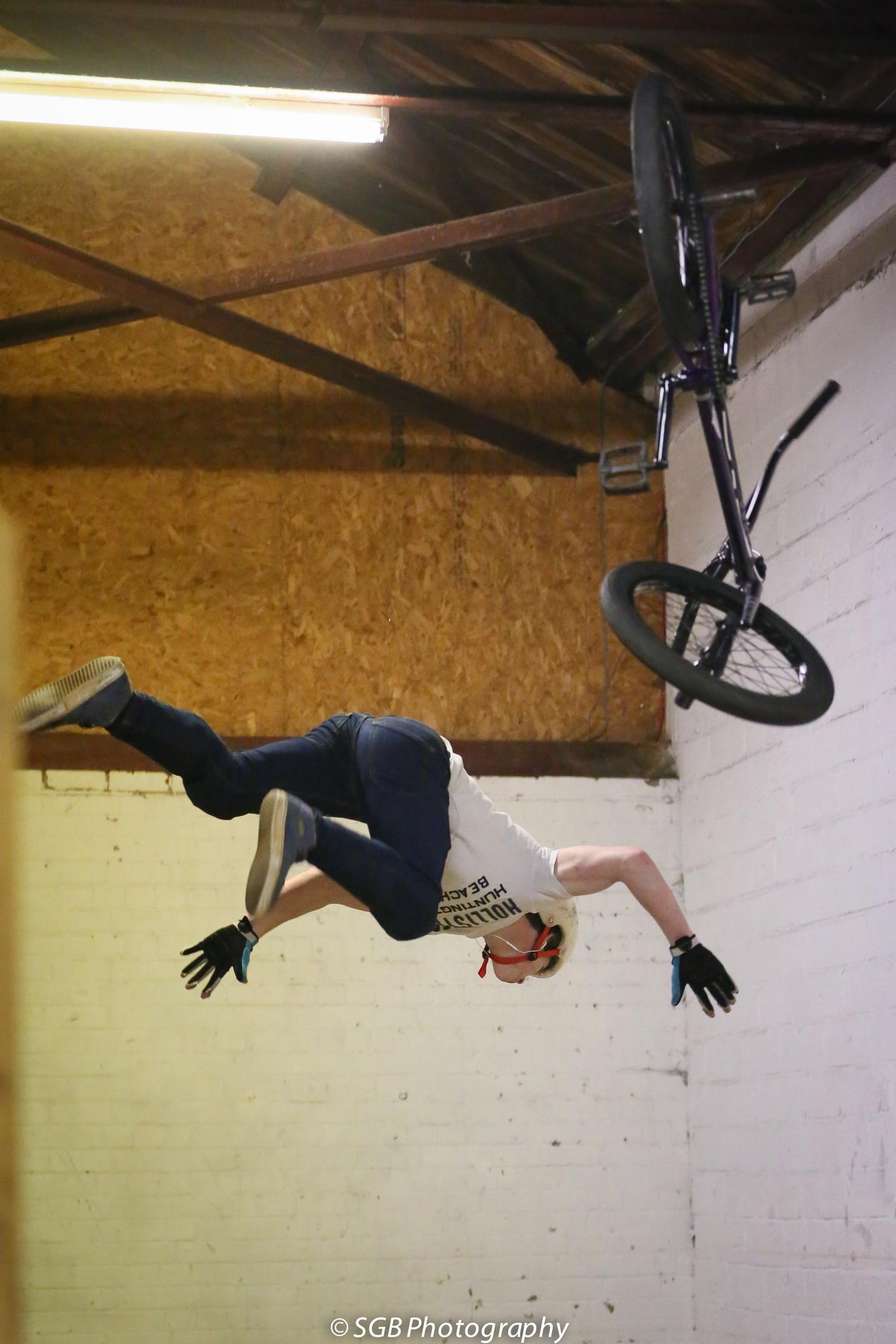 Photo in Sports #prime plymouth #bail #bmx #jump #fail #midair #falling