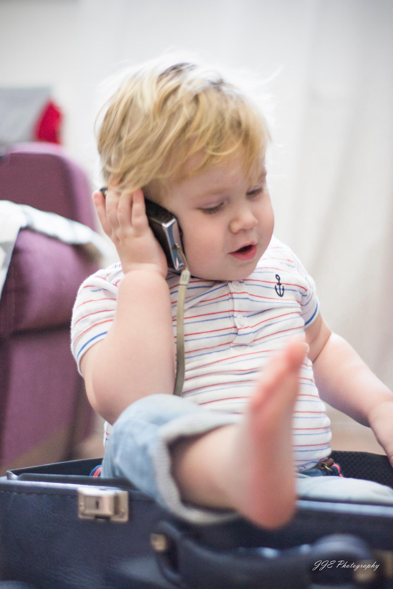 Photo in Portrait #child #phone #call