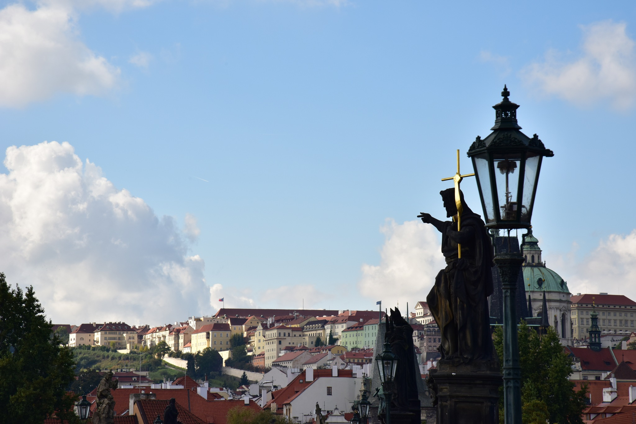 prague view from Charles bridge by alextrusty