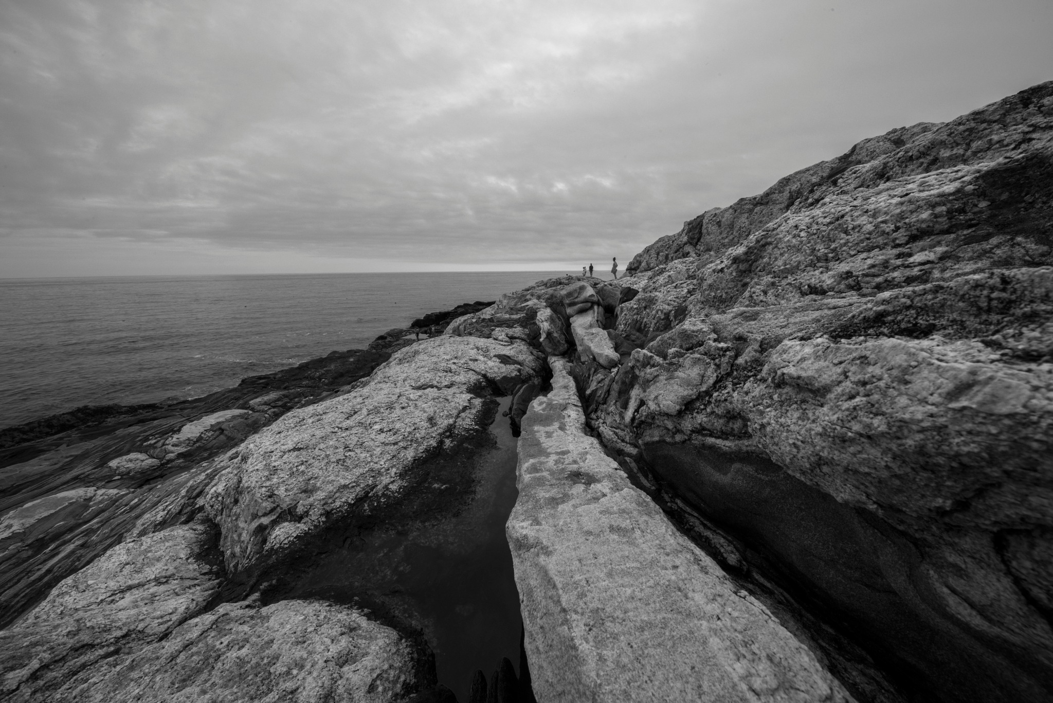 so little and the puddle.... at Pemaquid by alextrusty