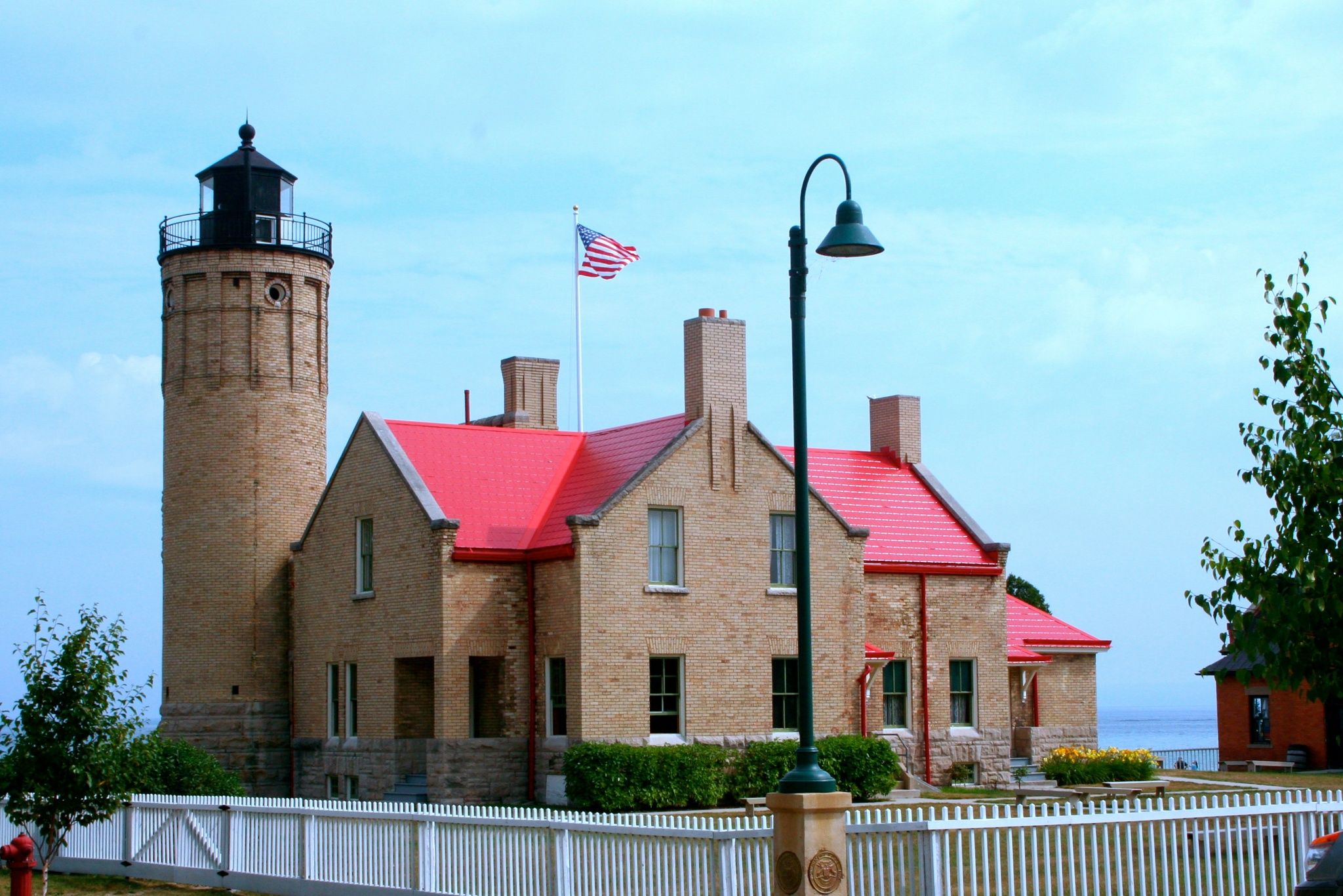 Mackinac City Lighthouse by Laurie Ann Morche'