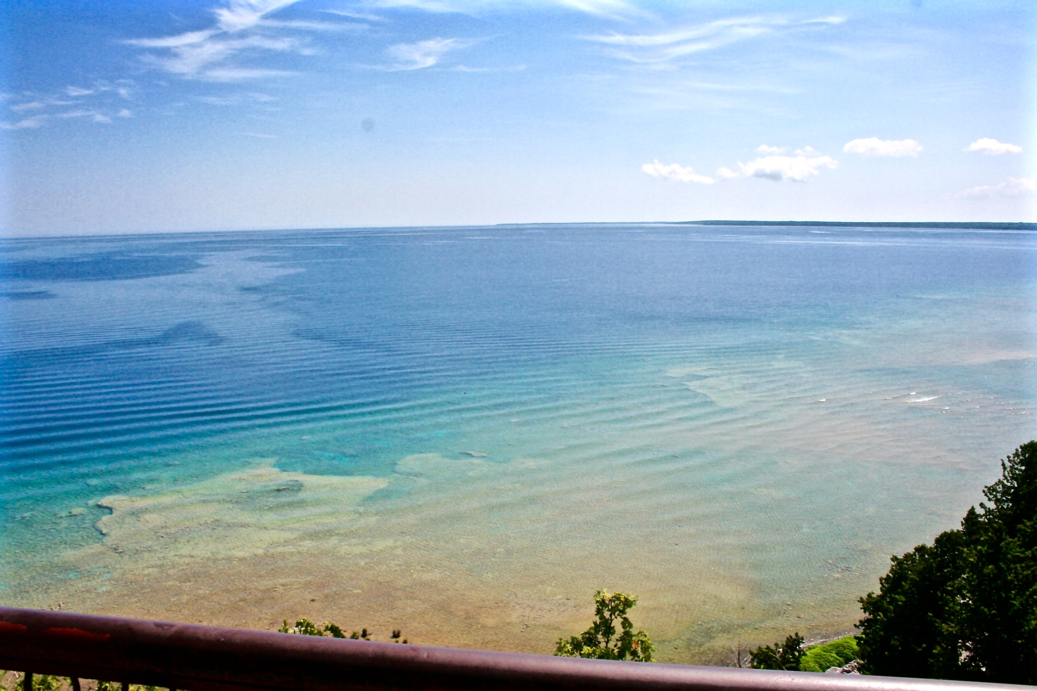 Lake Michigan off of Mackinaw Island by Laurie Ann Morche'
