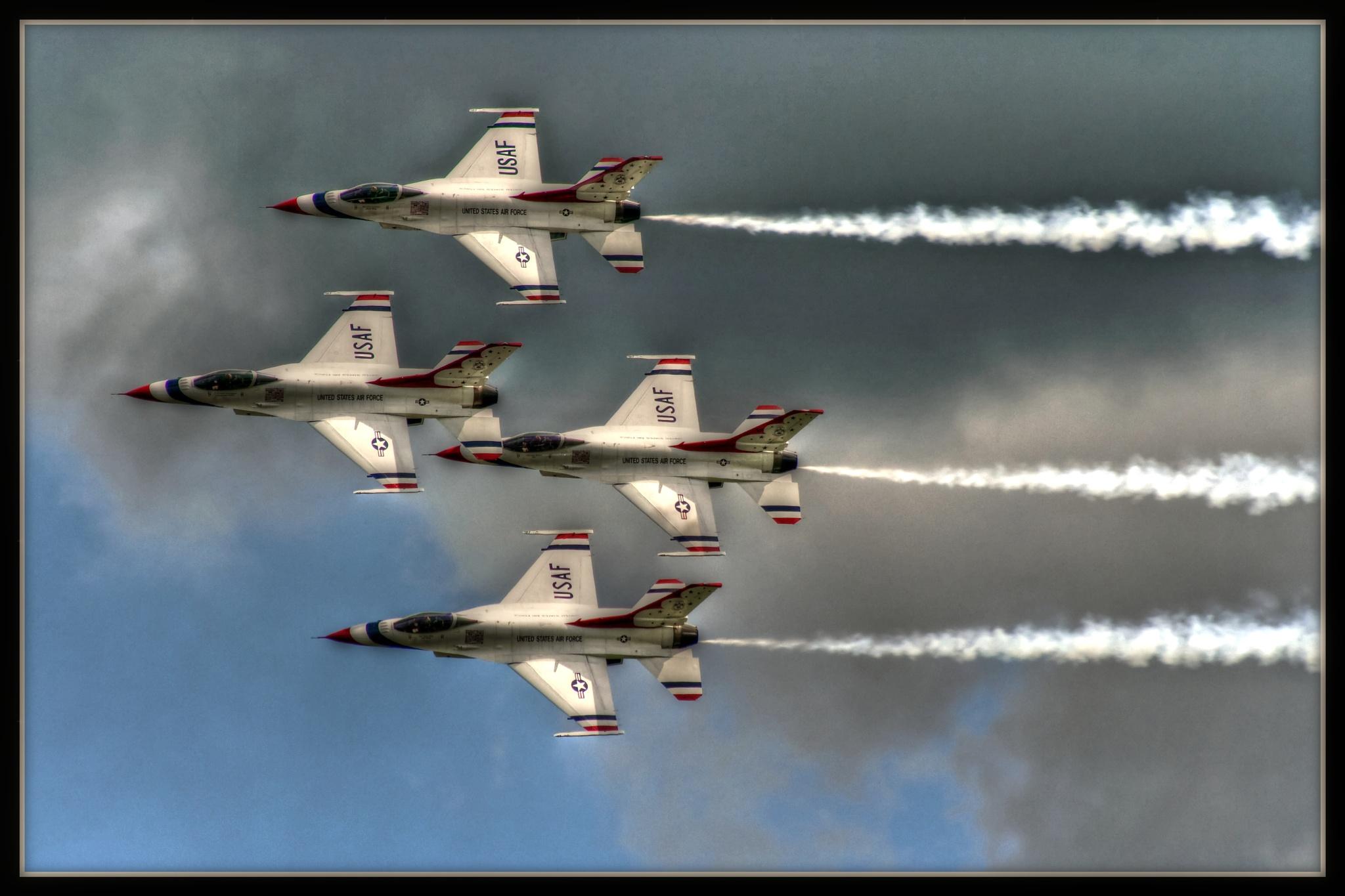 USAF Thunderbirds by JR's Photography