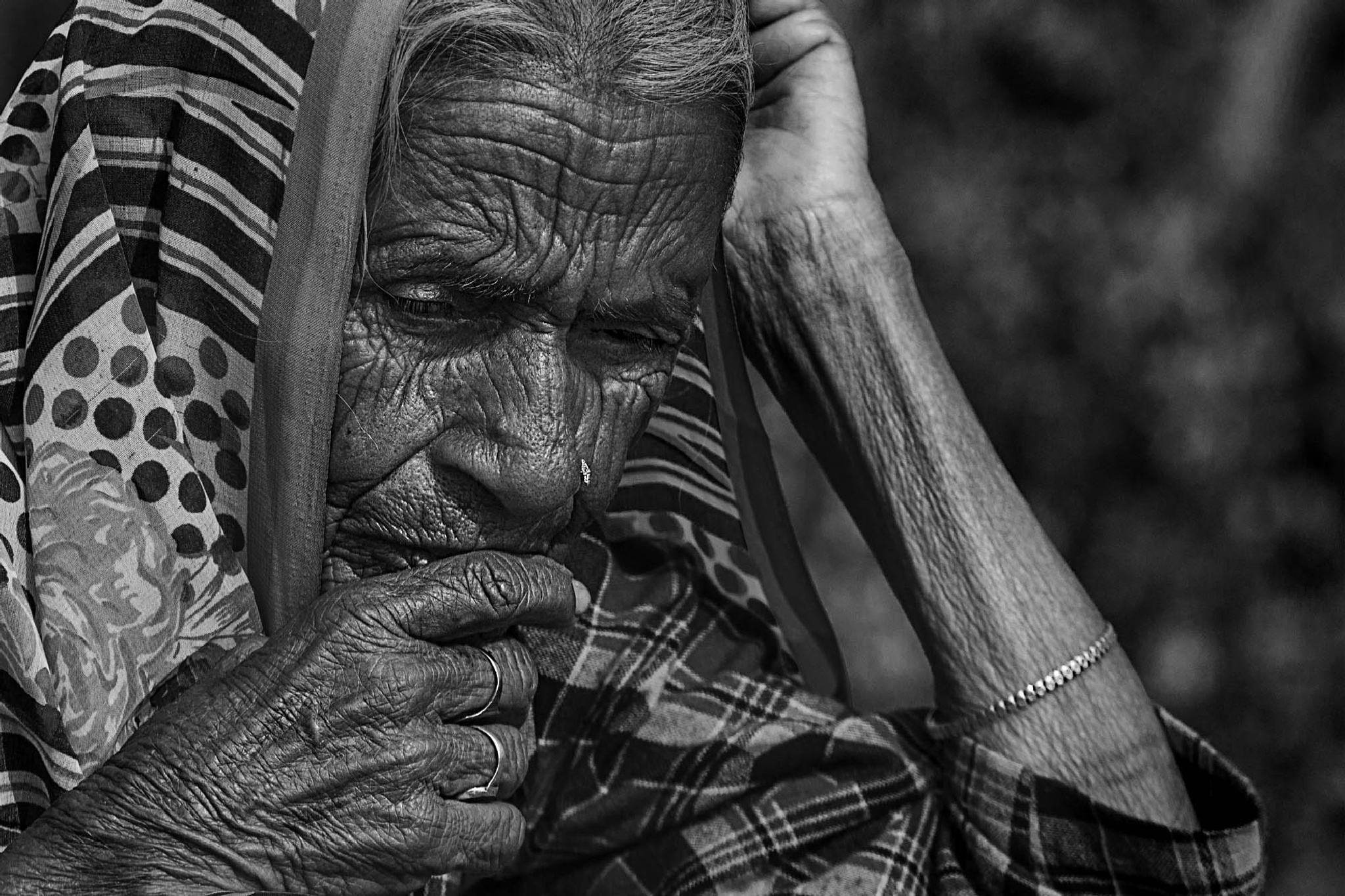 old lady by anjan1975
