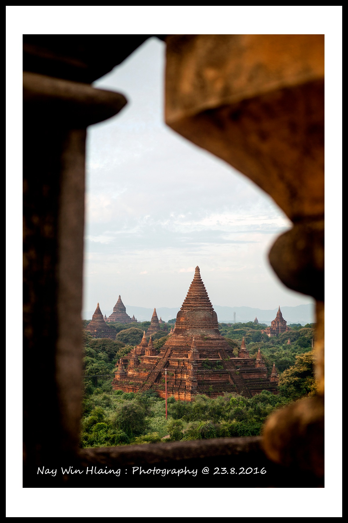 Bagan town by NayWinHlaing