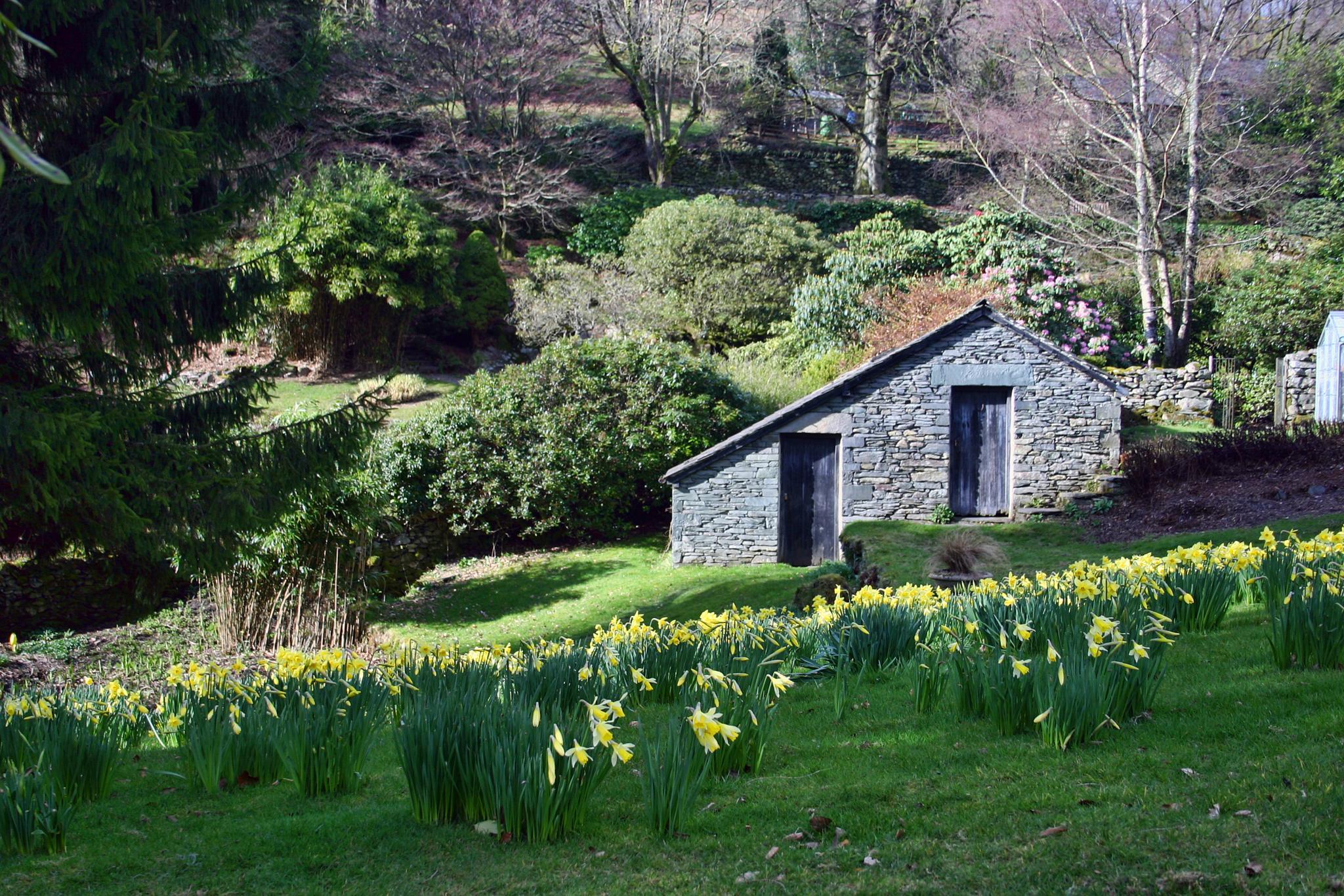 William Wordsworth's garden at Rydal Mount.  Cumbria.  UK. by geofftodhunter