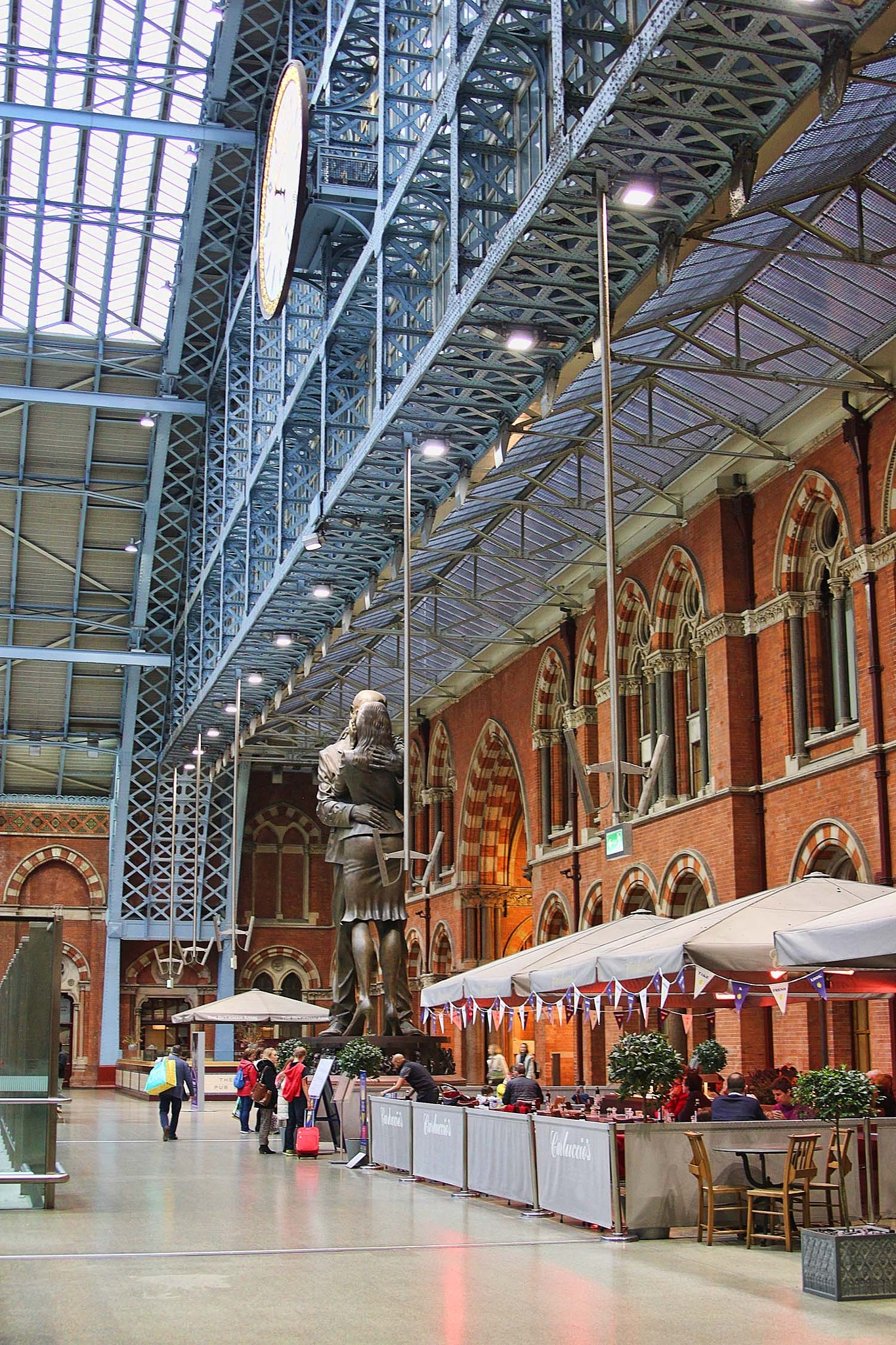 St Pancras station.  London. by geofftodhunter