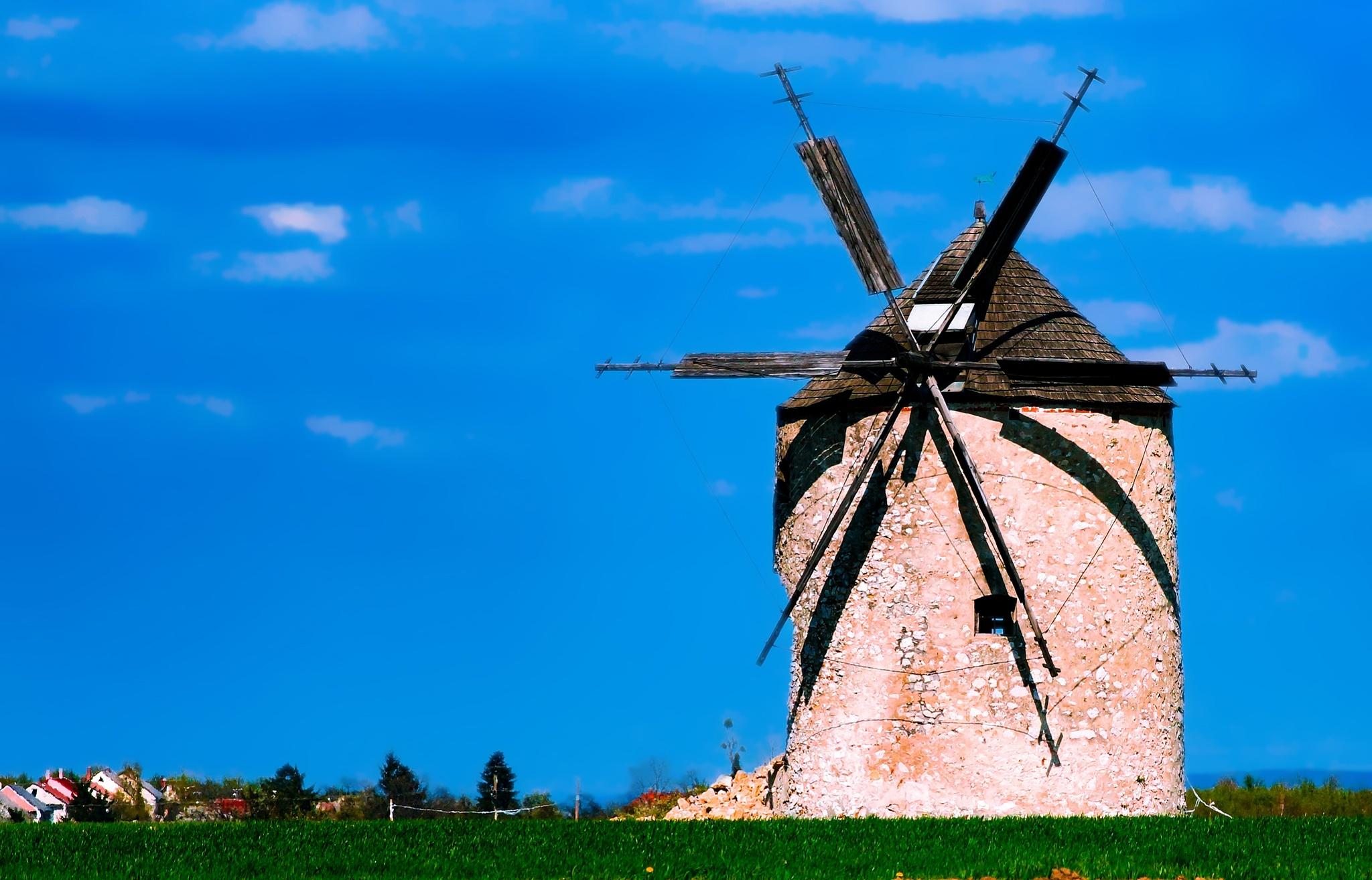 Windmill - Tés - Hungary by Tamas Filep