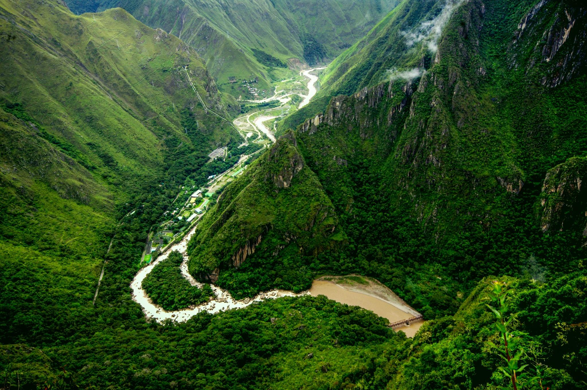 Urubamba river and sacred valley by Zdenko Somorovsky