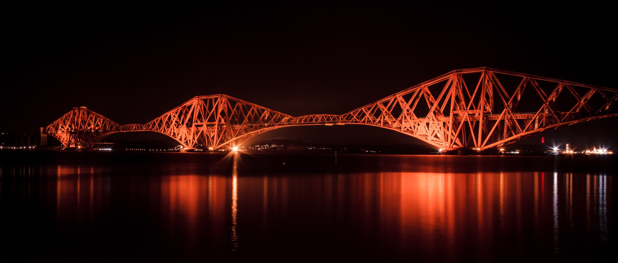 Photo in Architecture #bridge #archbridge #forth #forthbridge #reflection #scotland #queensferry #southqueensferry #water #sea #evening #night #travel #travelphotography #photo #photography #rodriguesfhs