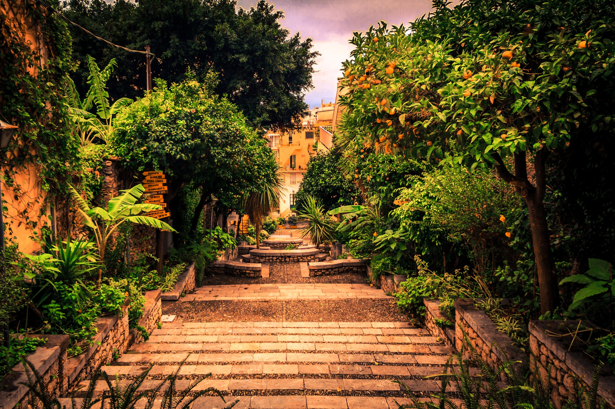 Stairs of Taormina I by Fabio Rodrigues