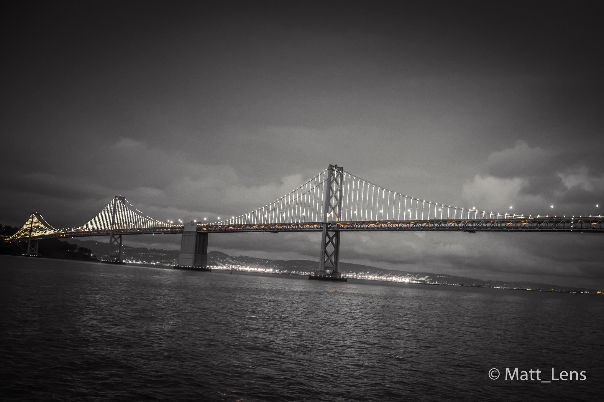 Bay Bridge at sunset  by Matt_Lens
