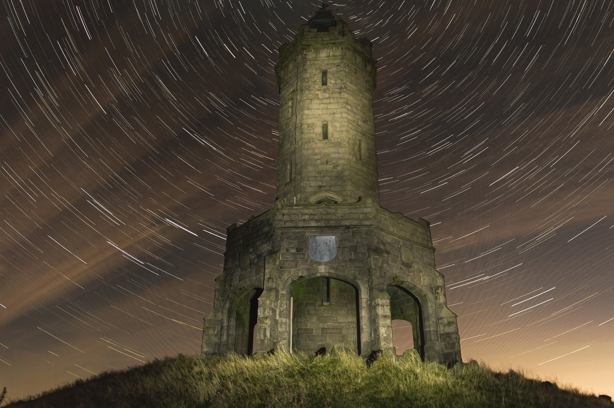 Darwen Tower Star Trails by Johnrutherford84