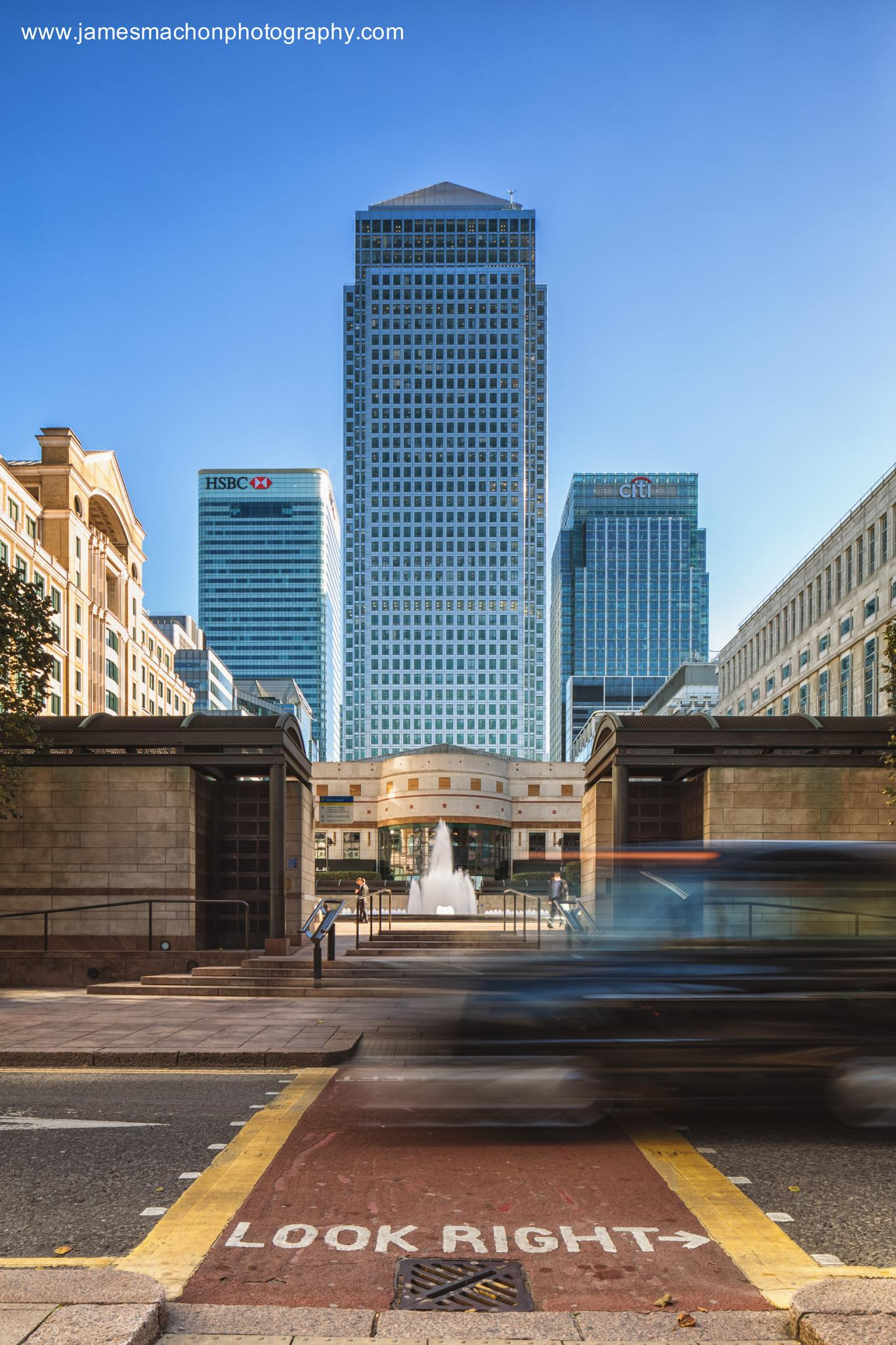 Photo in Cityscape #london #canary wharf #tilt & shift