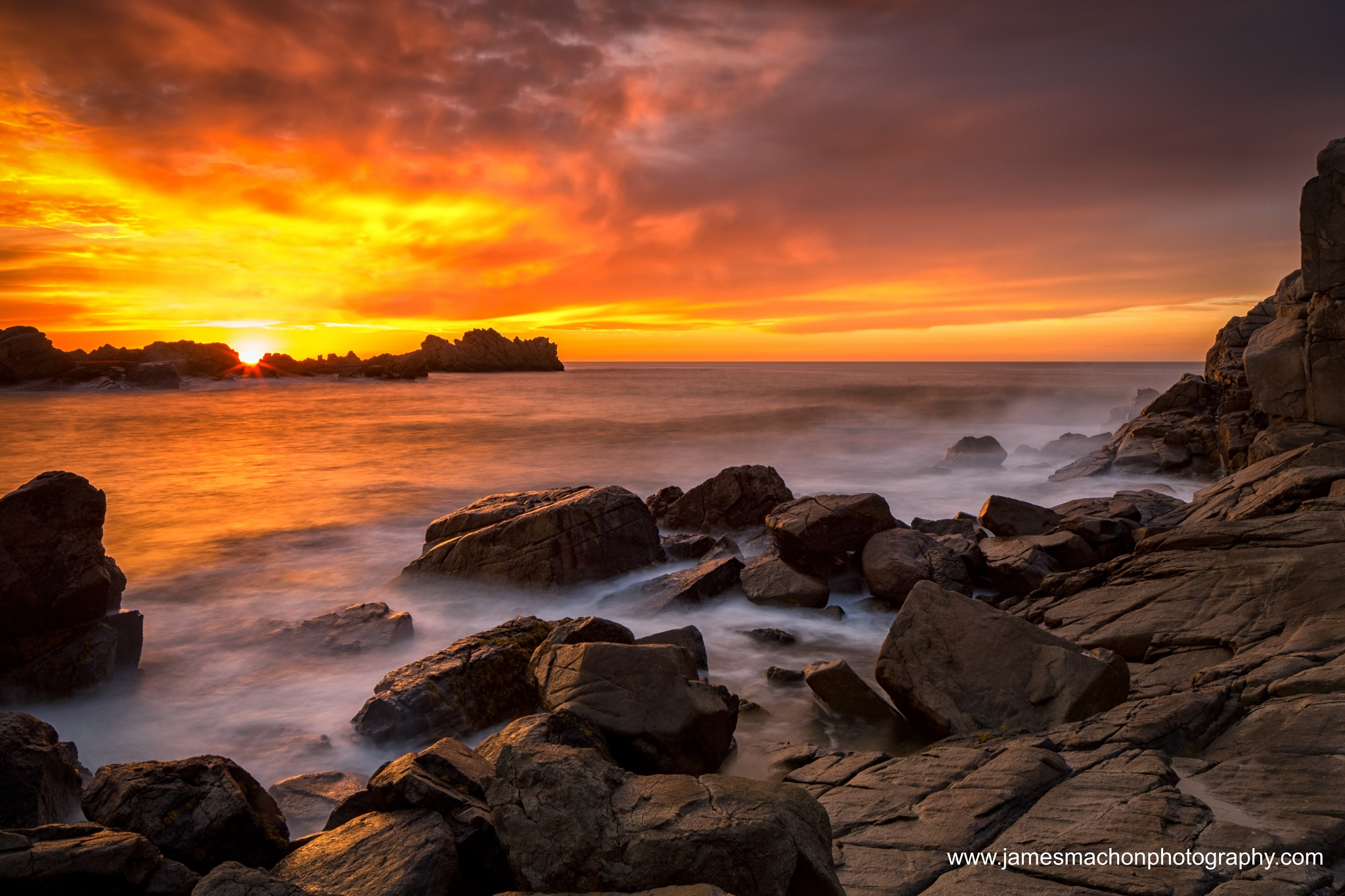 Sunset at Port Soif by James Machon Photography