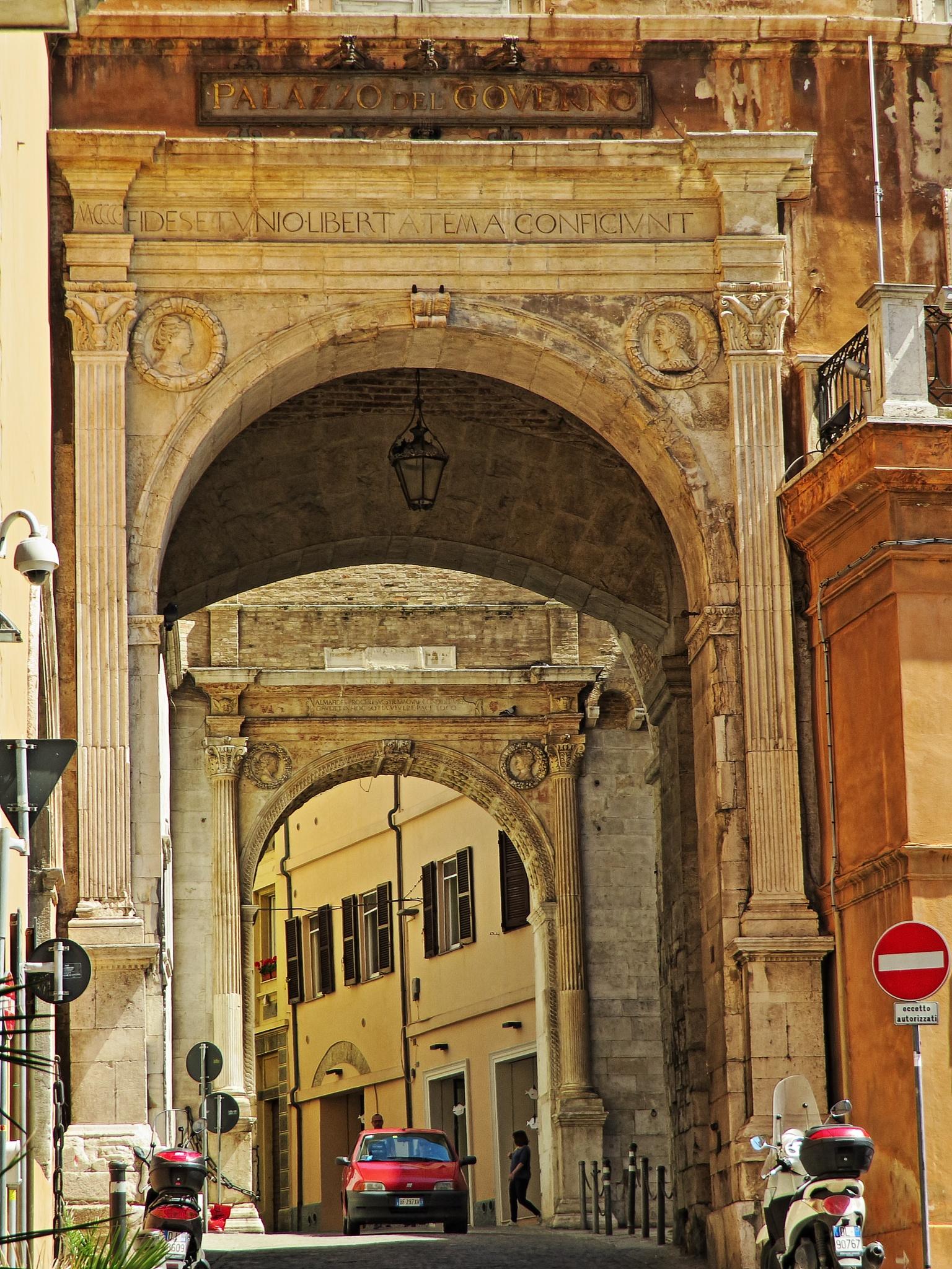 Ancona, Marche, Italy - Palazzo del Governo -Arco 1- by Gianni Del Bufalo CC BY-NC-SA by gianni del bufalo