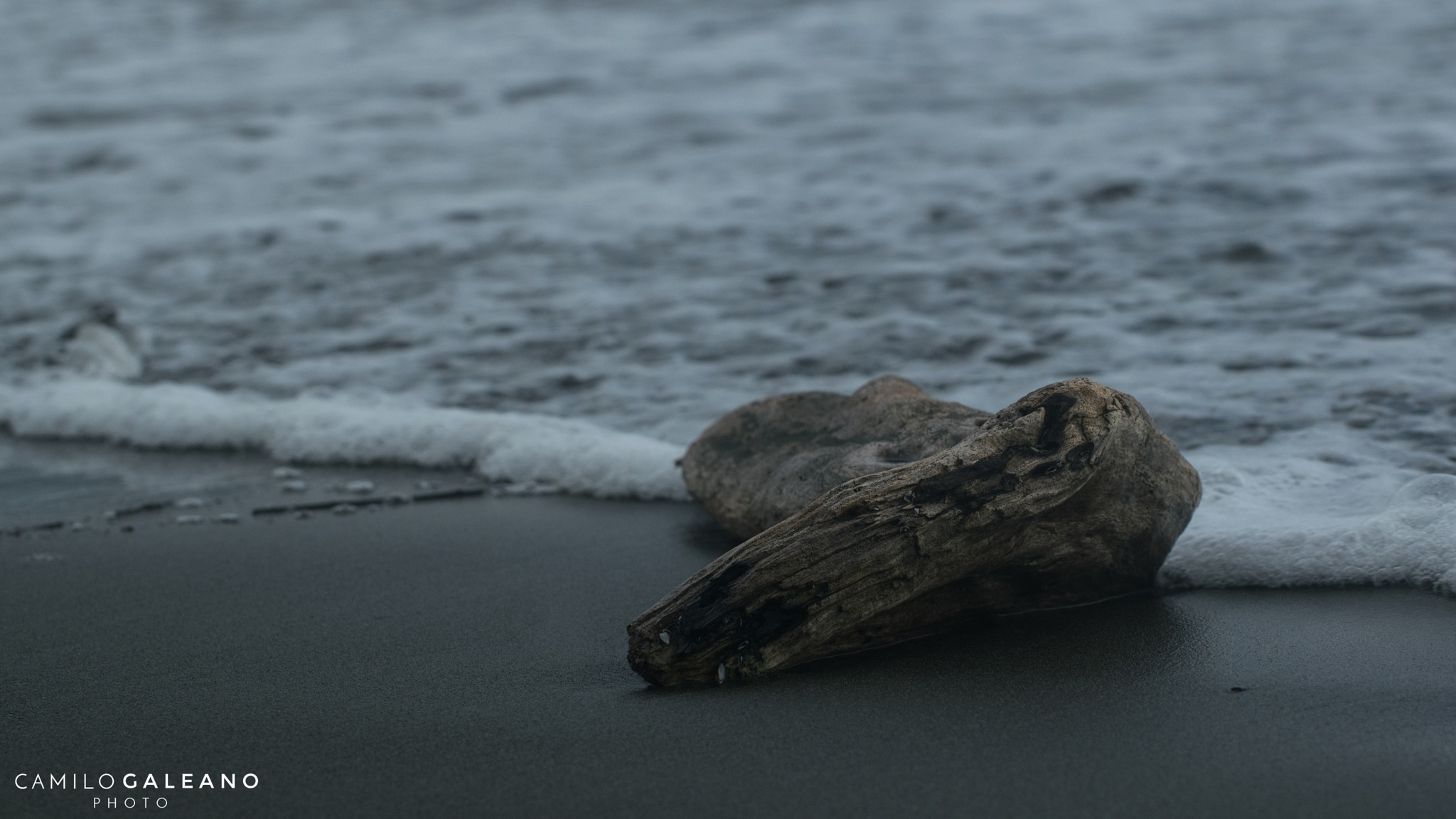 Sand and wood  by Camilo Galeano