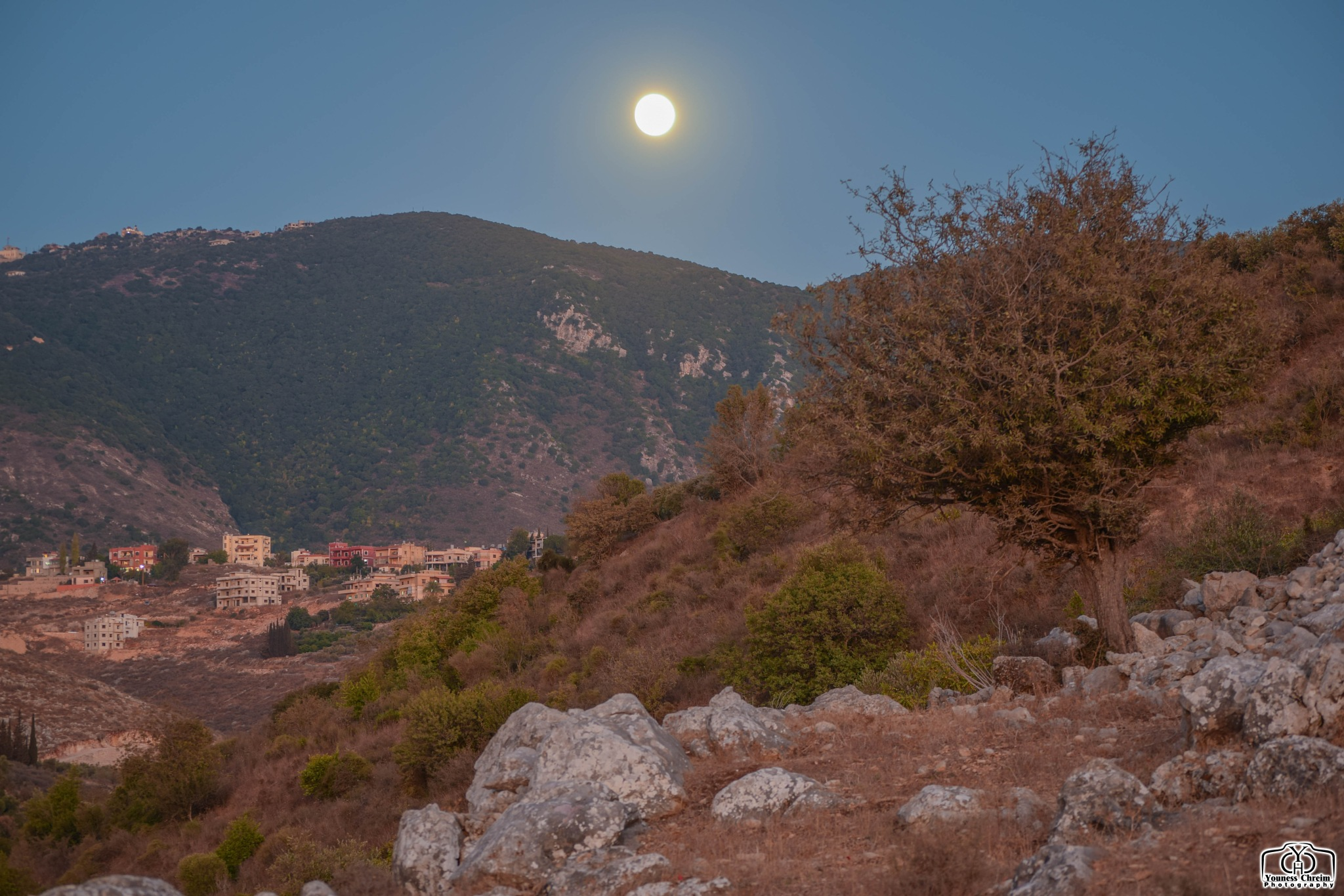 Moon rise Lebanon by Youness Chreim