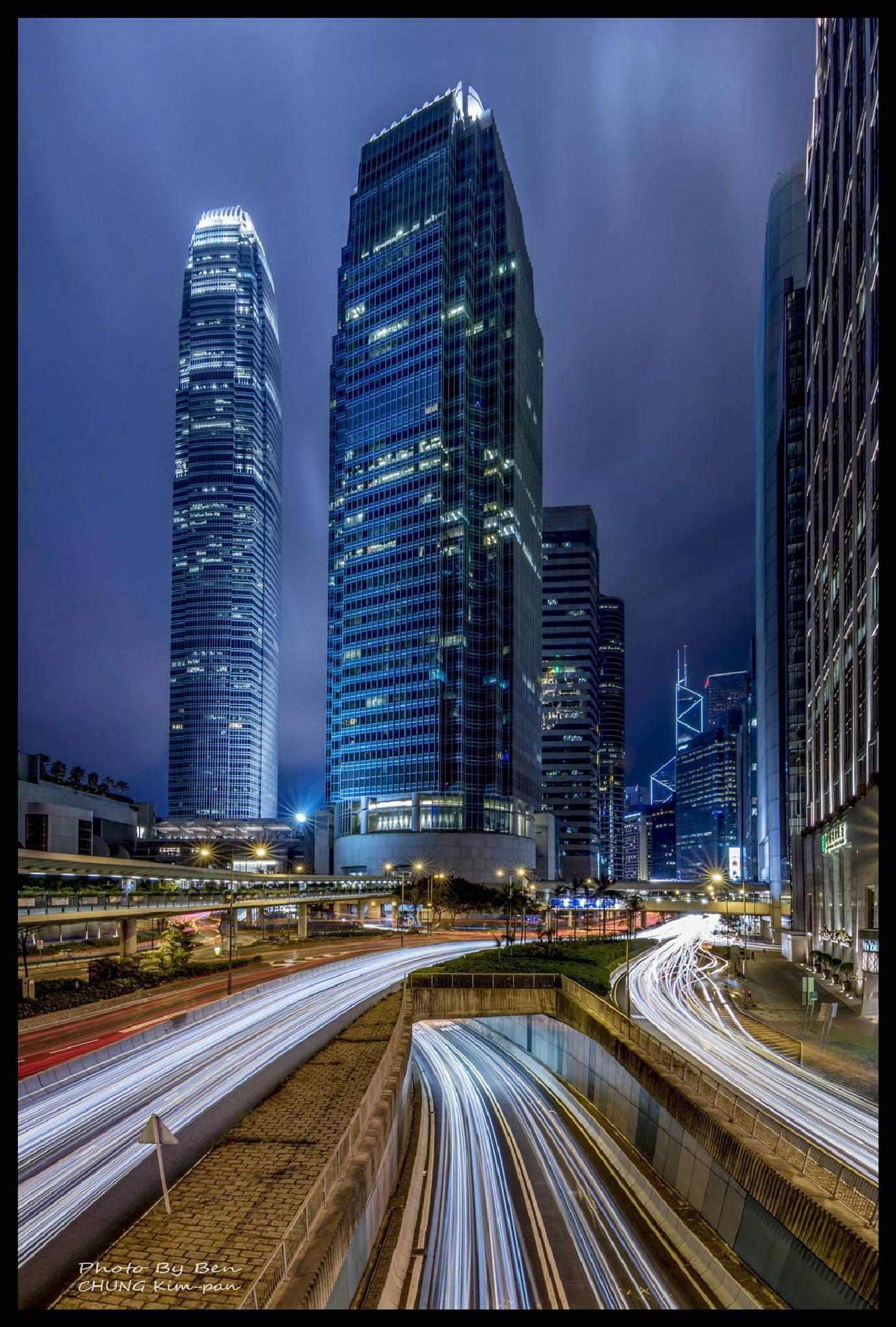 Light track at Hong Kong by BenKPChung
