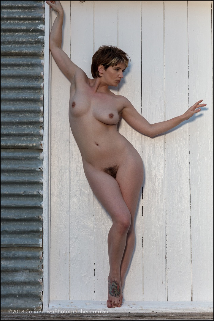 Nude against the door by ColinBrownPhotographer