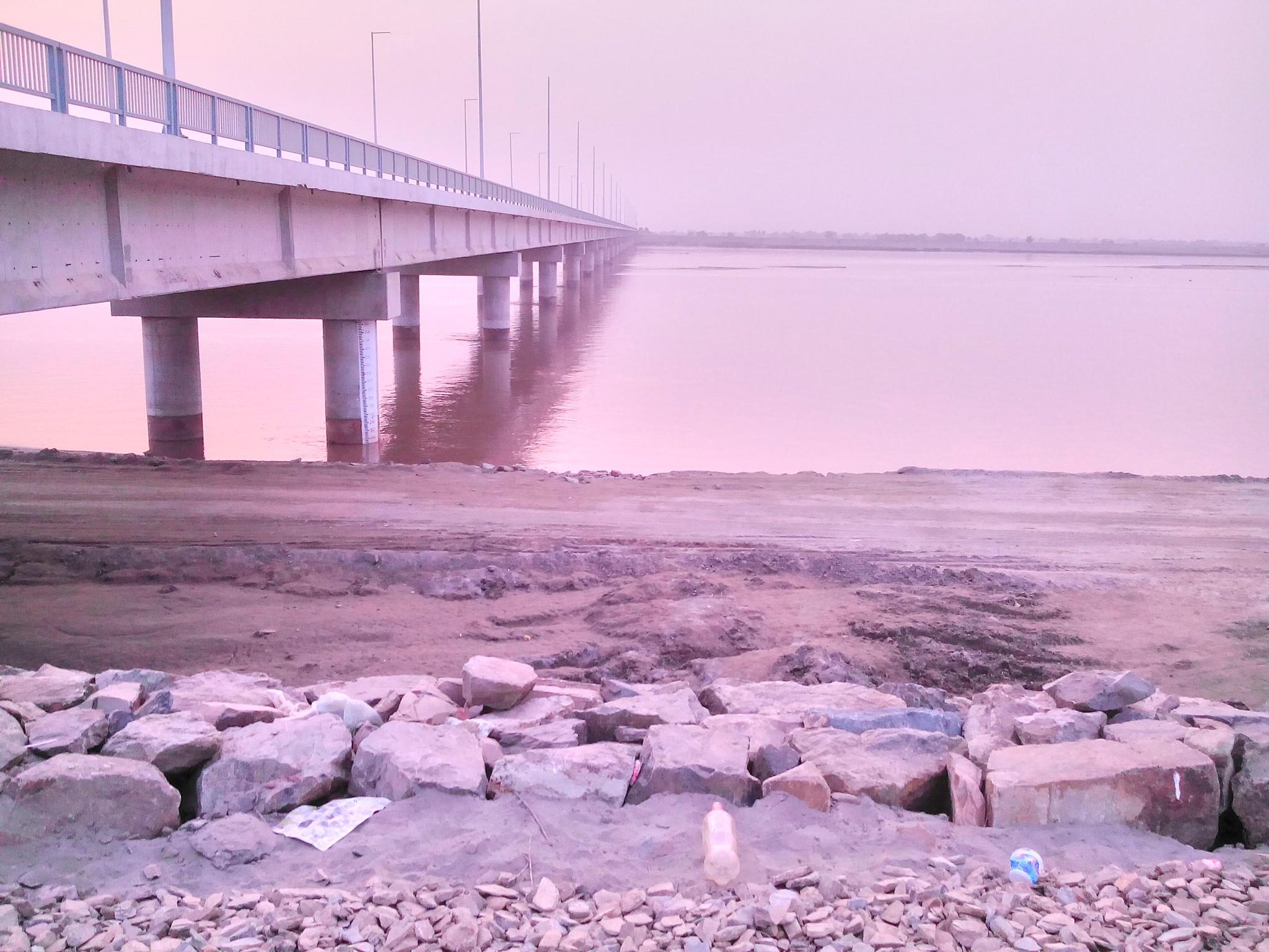 Bridge of Kalri at River Chenab  by Tayyab Tanveer