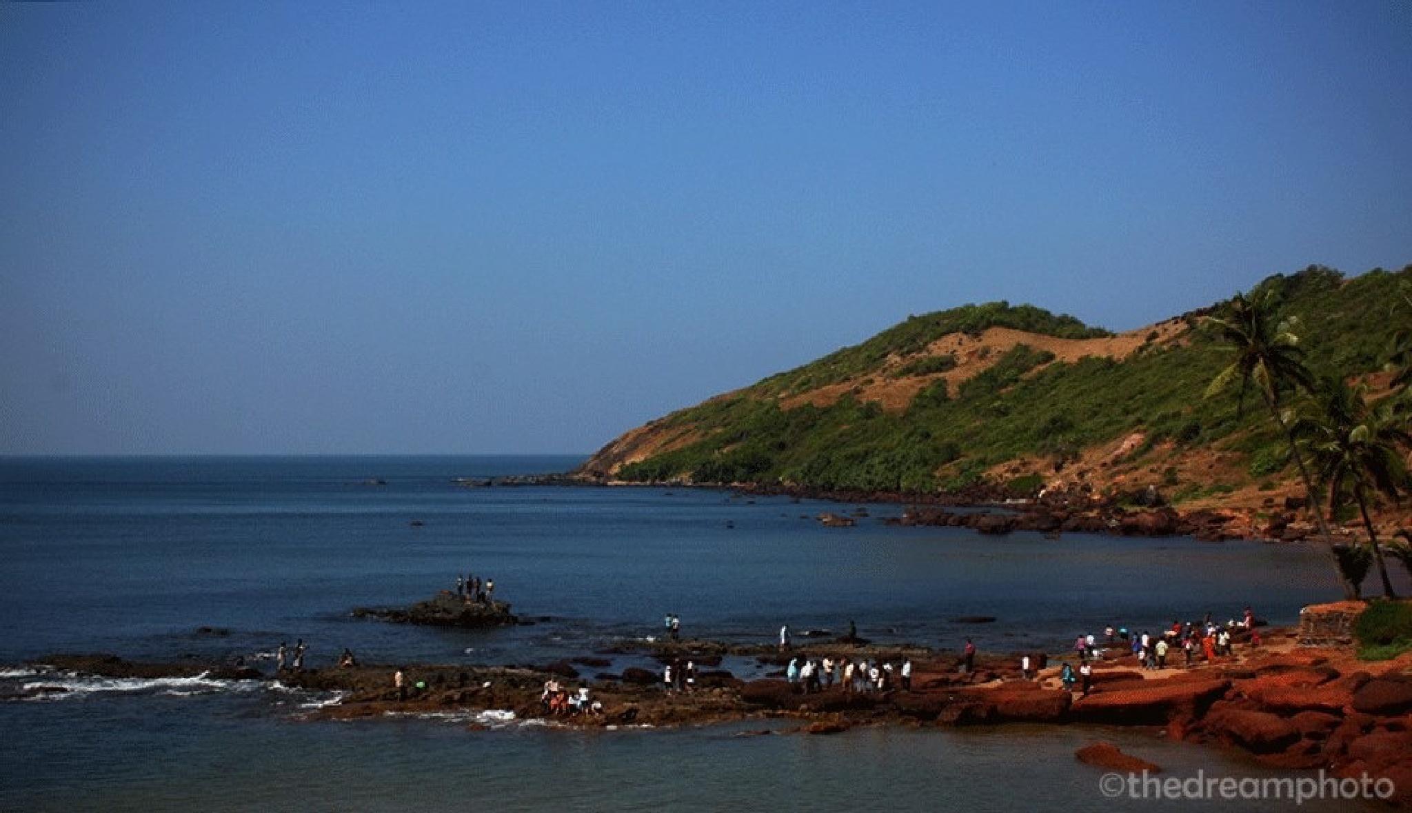 A beach in Goa by Sushil Dhanawde