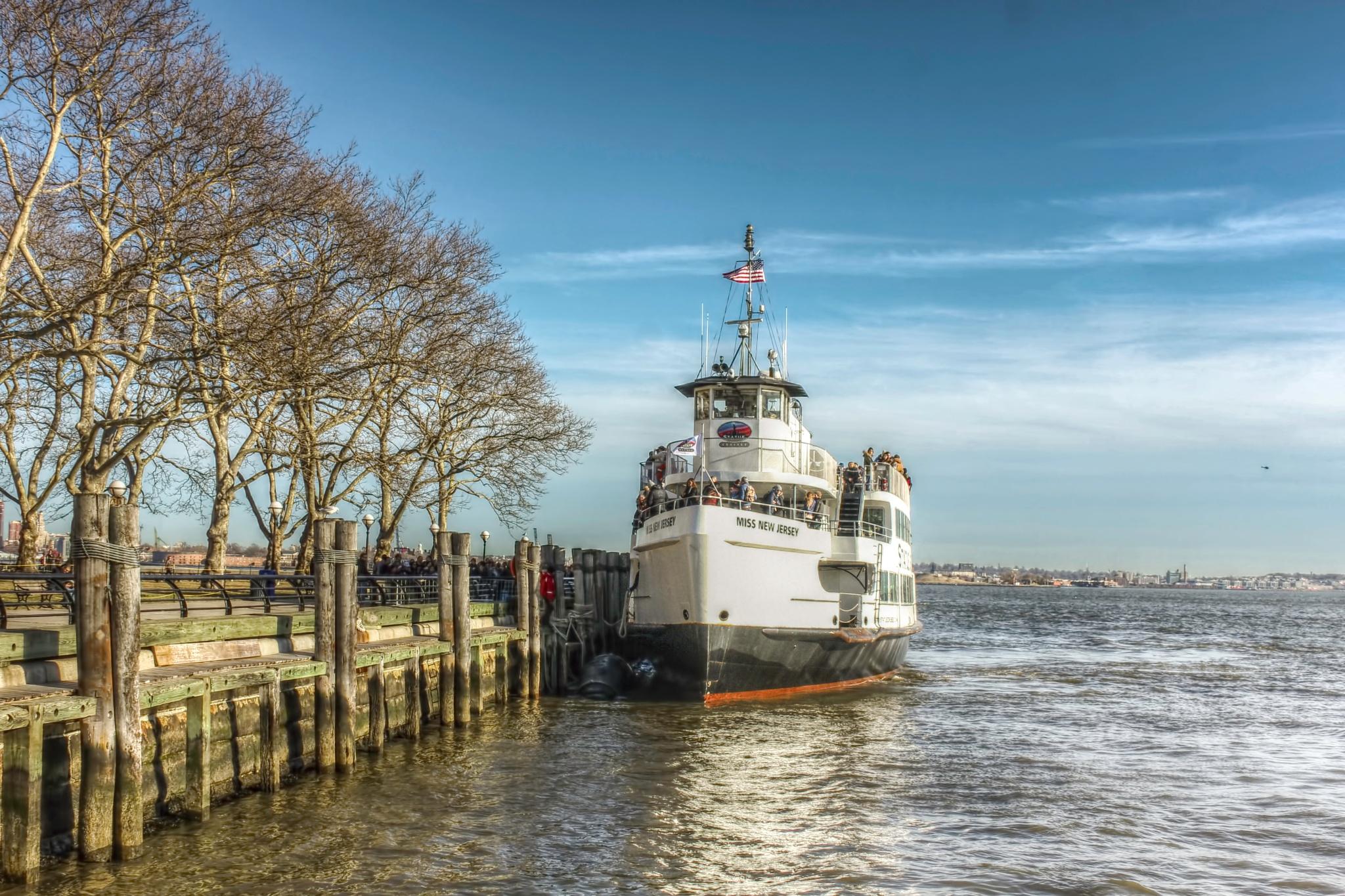 Ferry Docking by Kashif Yusufzai